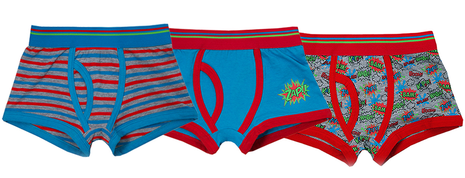 Kids Boys Boxer Shorts 3 Pairs Pack Childrens Cotton Blend Underwear Trunks Size