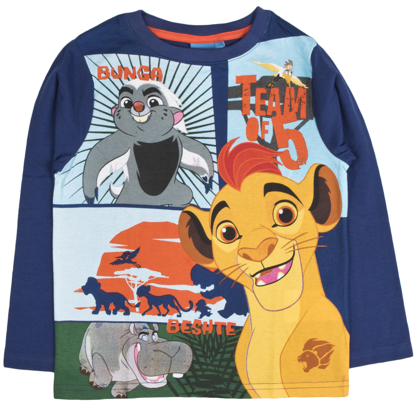 b6ff962c659 Boys Disney The Lion Guard Long Sleeved Top 100% Cotton Kion T Shirt ...