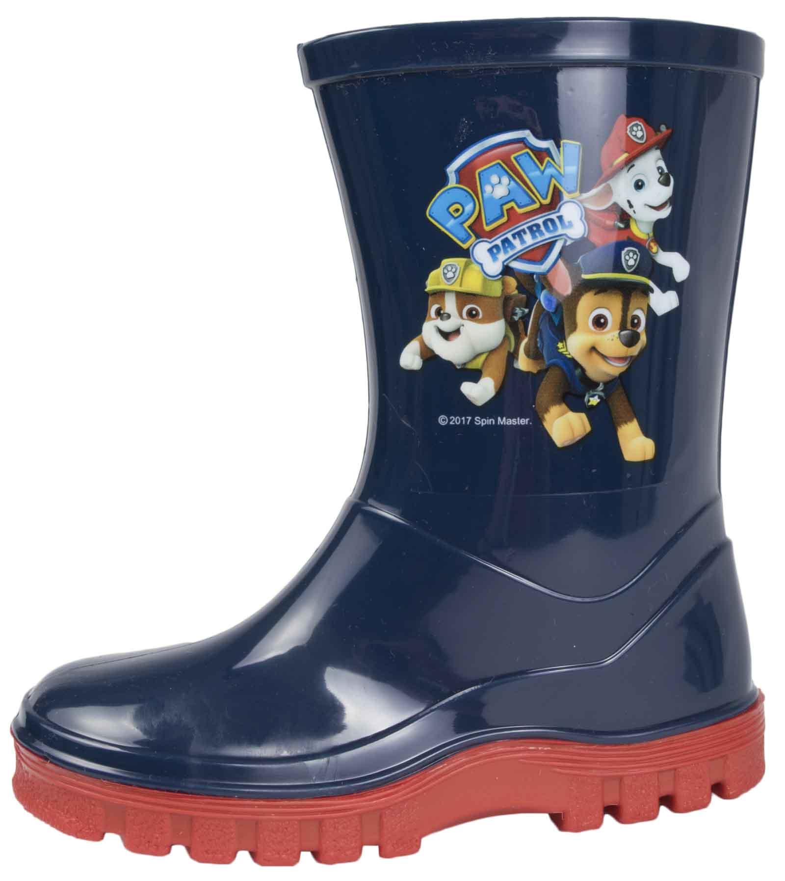 8f46da8d84 Details about Paw Patrol Wellington Boots Rain Wellies Boys Girls Mid Calf  Snow Boots Size