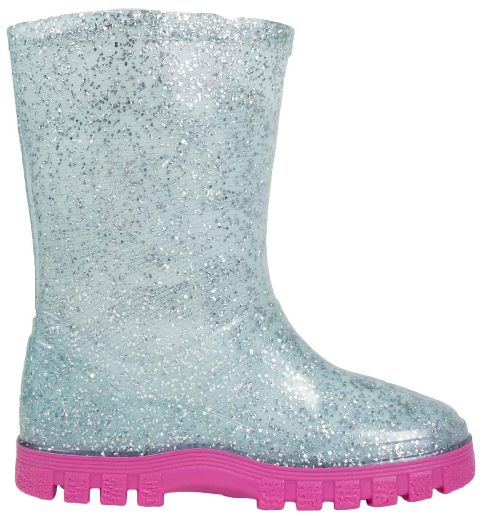 Girls-Peppa-Pig-Wellington-Boots-Mid-Calf-Gitter-Snow-Rain-Wellies-Kids-Size Indexbild 4