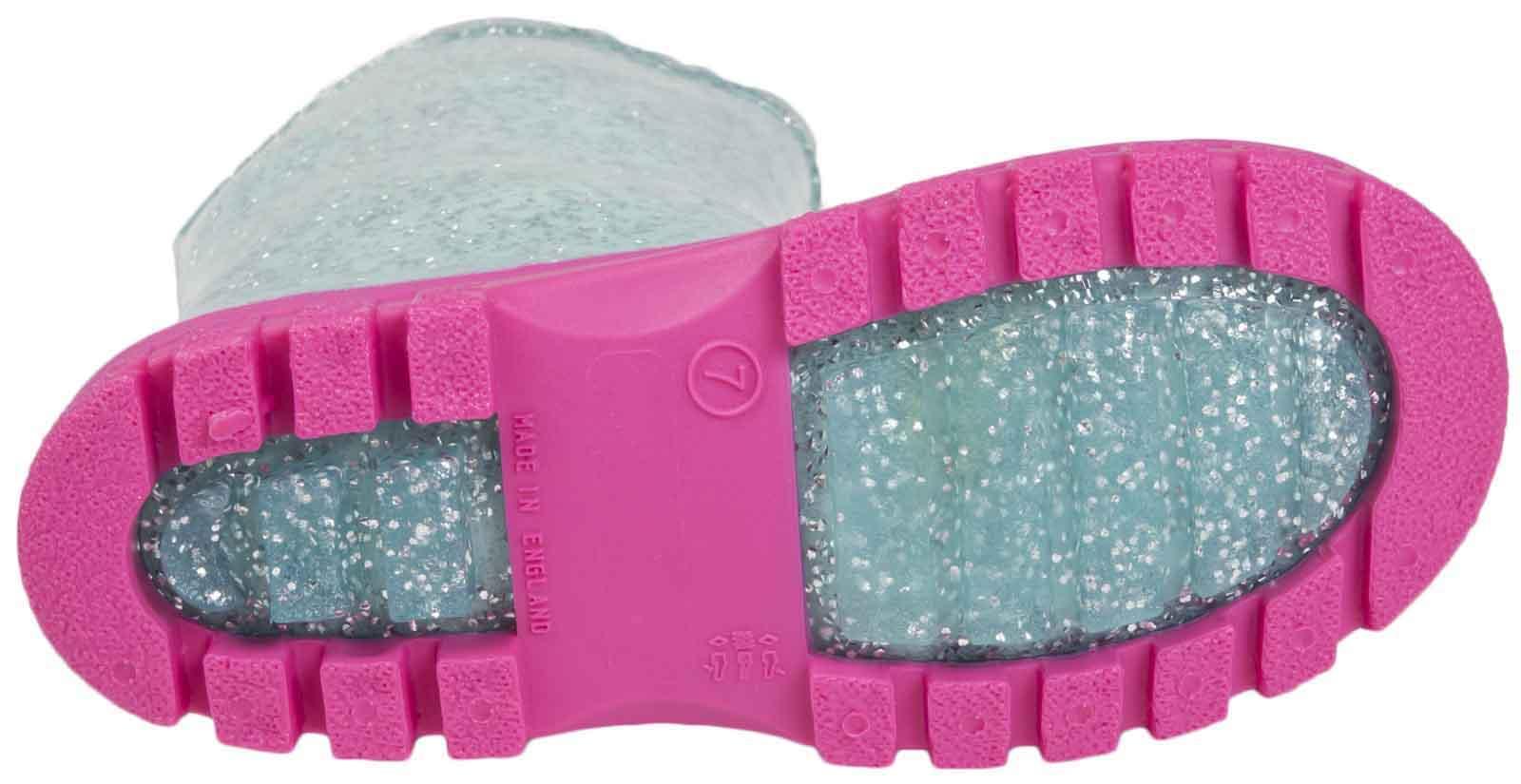 Girls-Peppa-Pig-Wellington-Boots-Mid-Calf-Gitter-Snow-Rain-Wellies-Kids-Size Indexbild 5