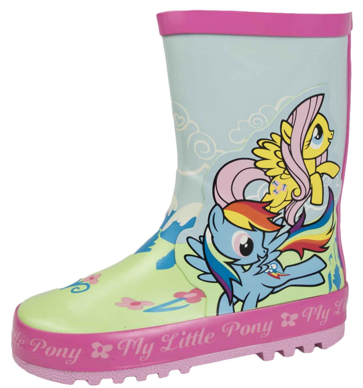 Filles my little pony paillettes wellington bottes pluie mlp bottes de neige taille