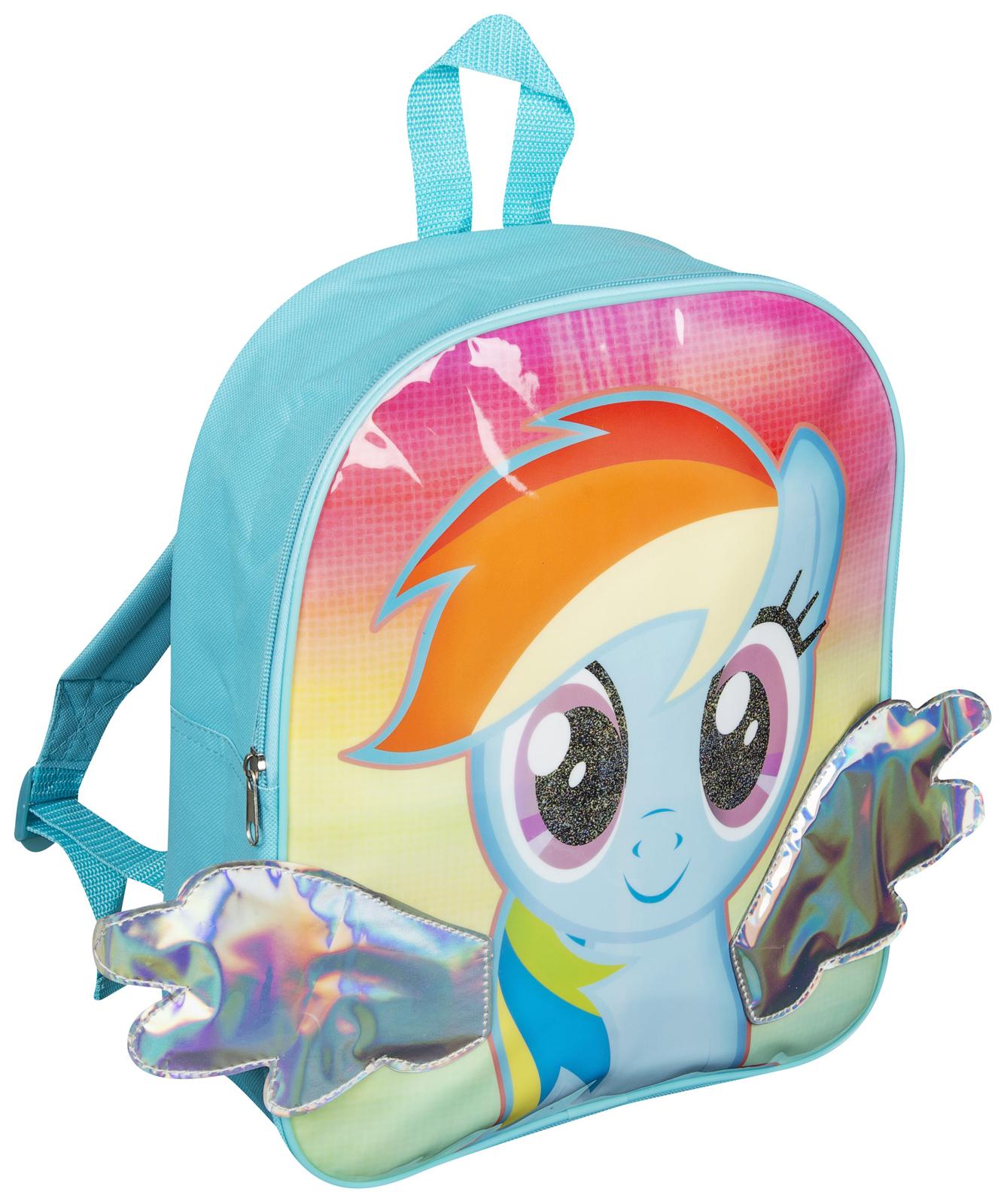 girls my little pony 3d backpack rainbow dash kids school lunch