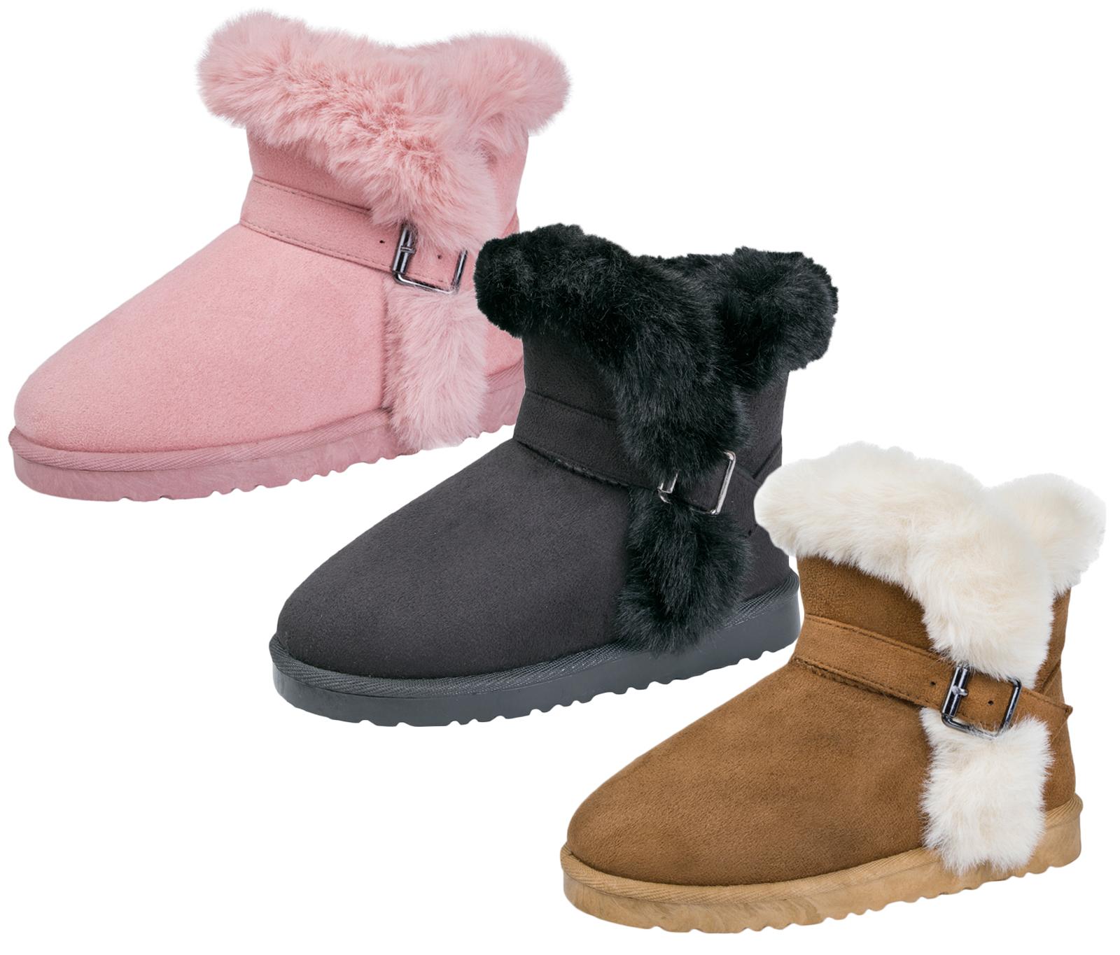 Luxury Girls Faux Suede Fur Lined Fur