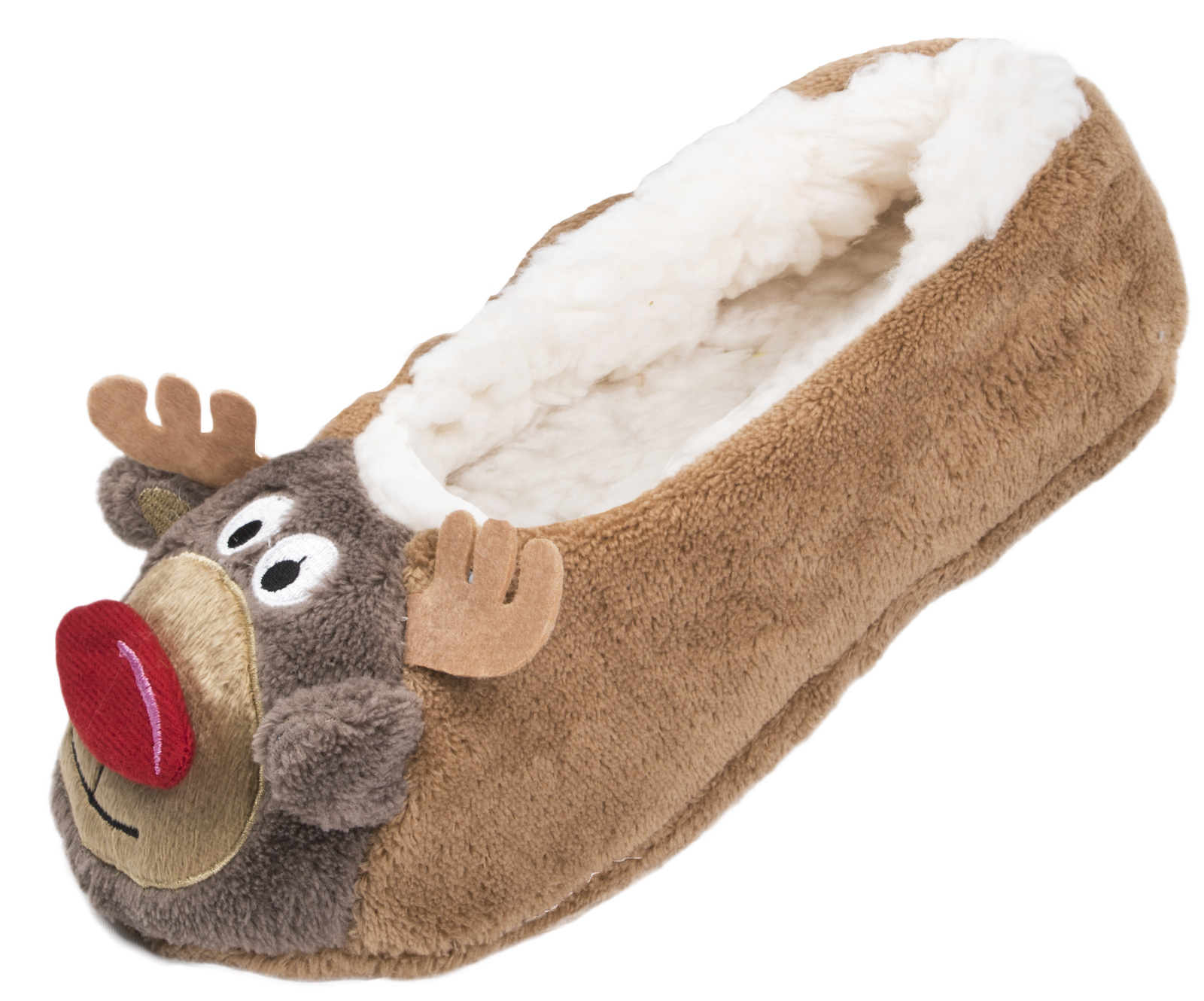 Ladies Christmas Slipper Socks 3D Xmas Footlets Character Ballet ...