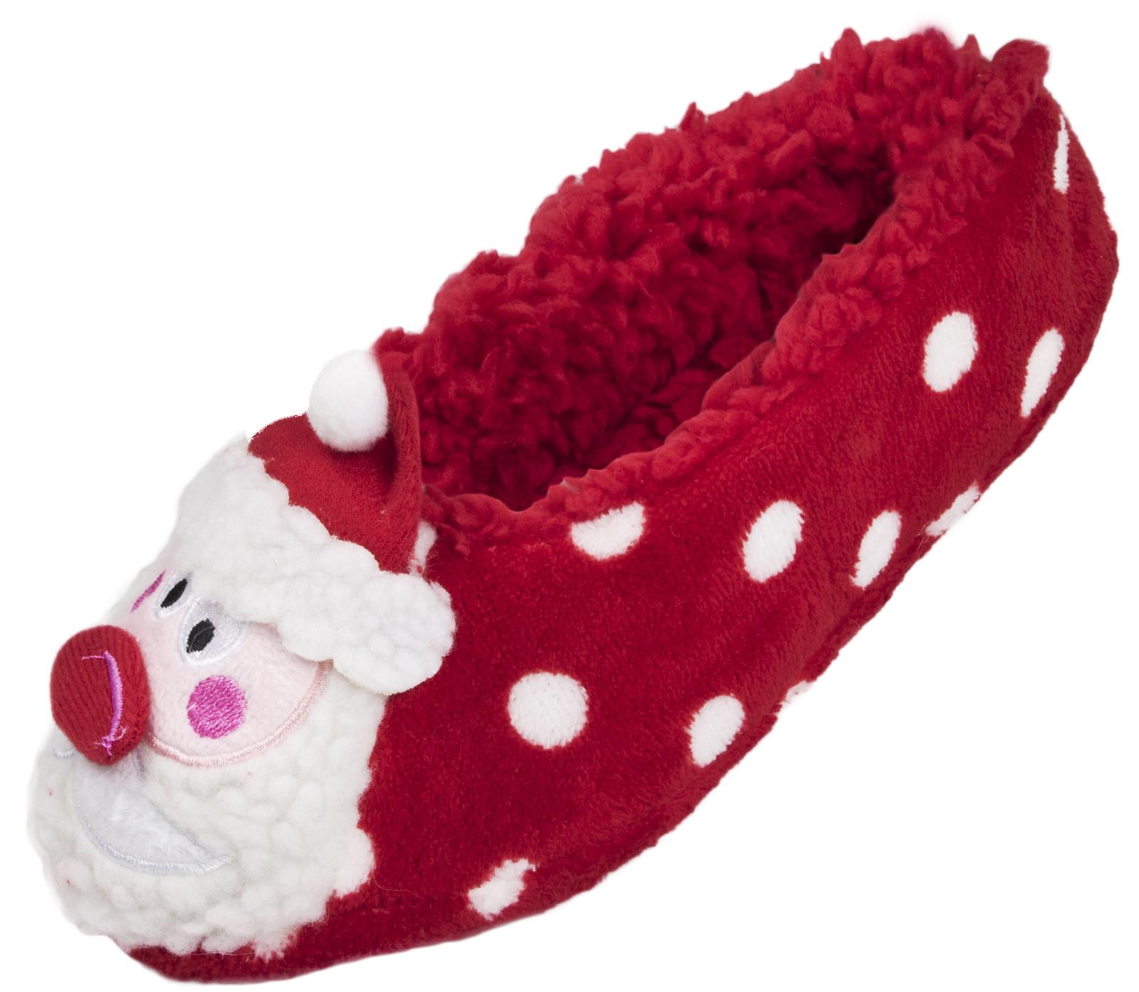 Ladies Christmas Slipper Socks 3D Xmas