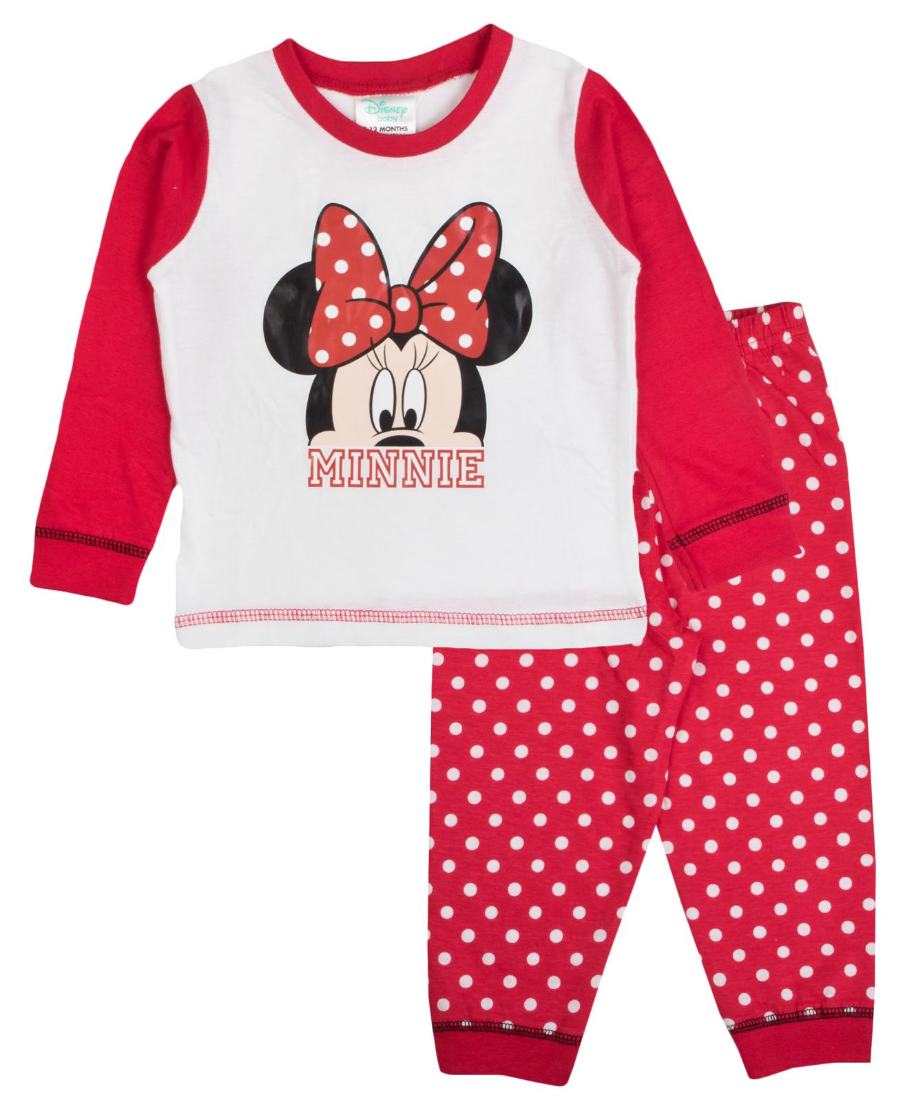 Baby Boys Girls Pyjamas Toddlers Disney Mickey Minnie Mouse Pjs Size