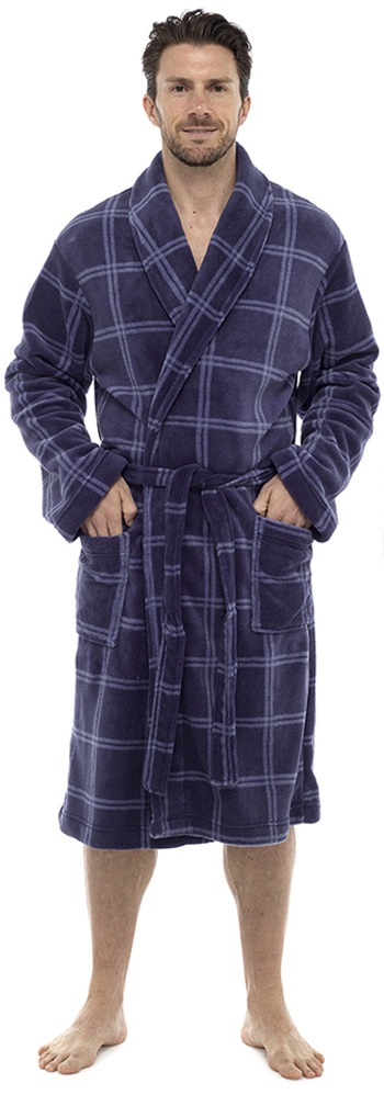 Luxury Housecoat Mens Robe Hiver Chaud Polaire Dressing Gown