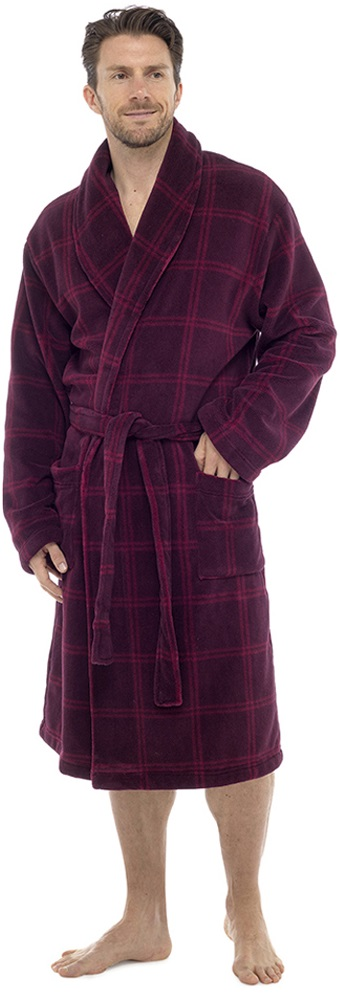 Luxury Mens Beau Robe Hiver Chaud Polaire Dressing Gown Bathrobe