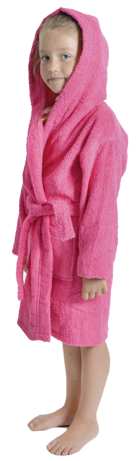 Girls 100% Cotton Towelling Dressing Gown Hooded Bath Robe Xmas Gift ...