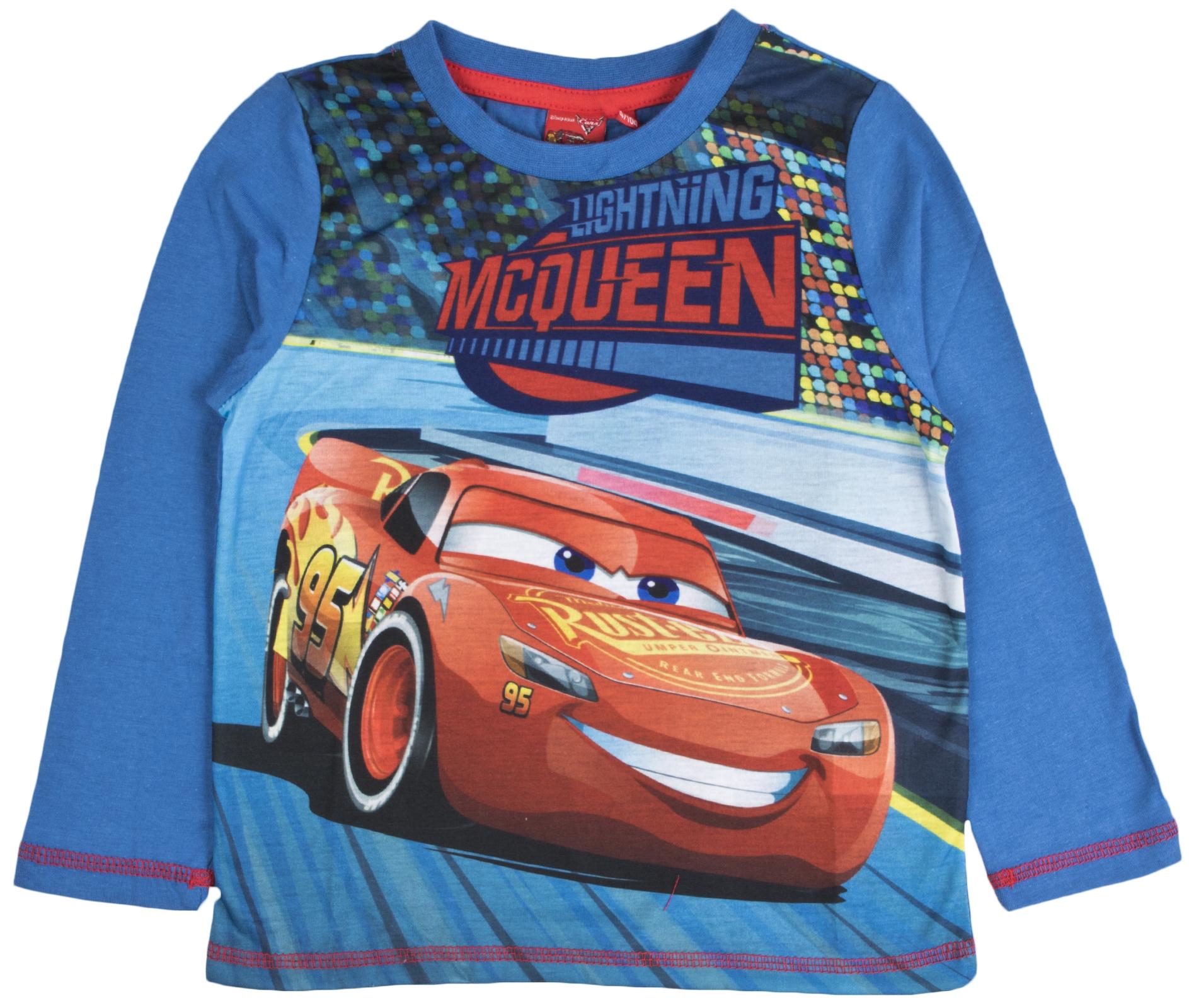 T-Shirt Manches Longues Enfant gar/çon Disney Cars MC Queen Gris de 3 /à 8ans