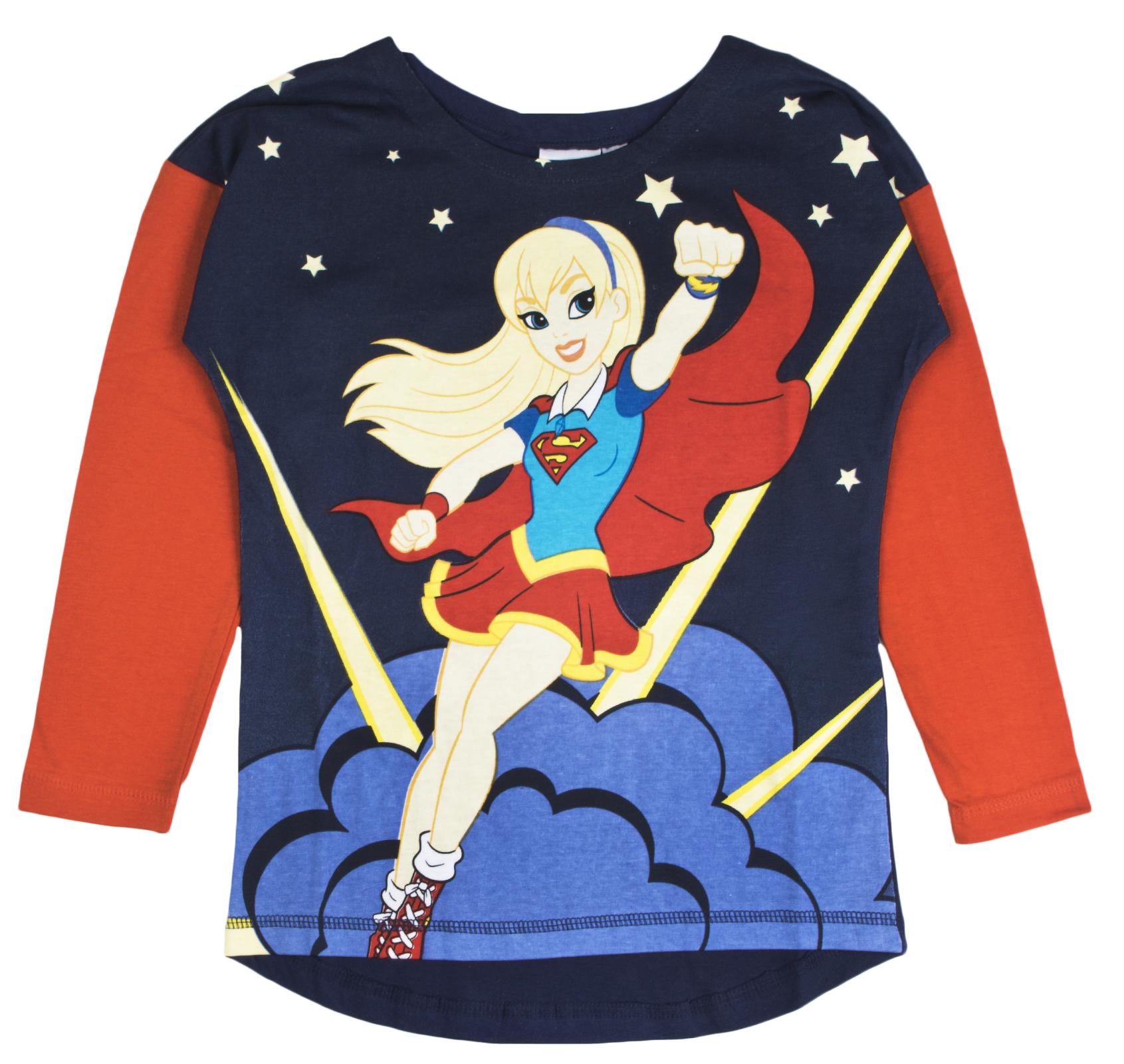 Ragazze Bambini DC Comic Pjs Pigiama Supereroe Supergirl Wonder Woman la Batgirl di 4-10YRS