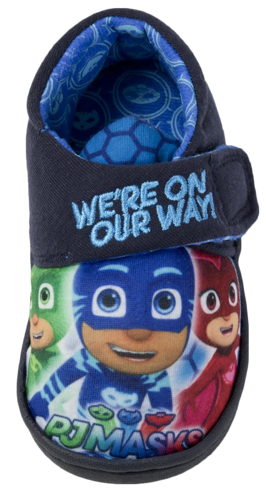 PJ máscaras Zapatillas Cierre Táctil fácil Niños Botines Chicos carácter Mulas