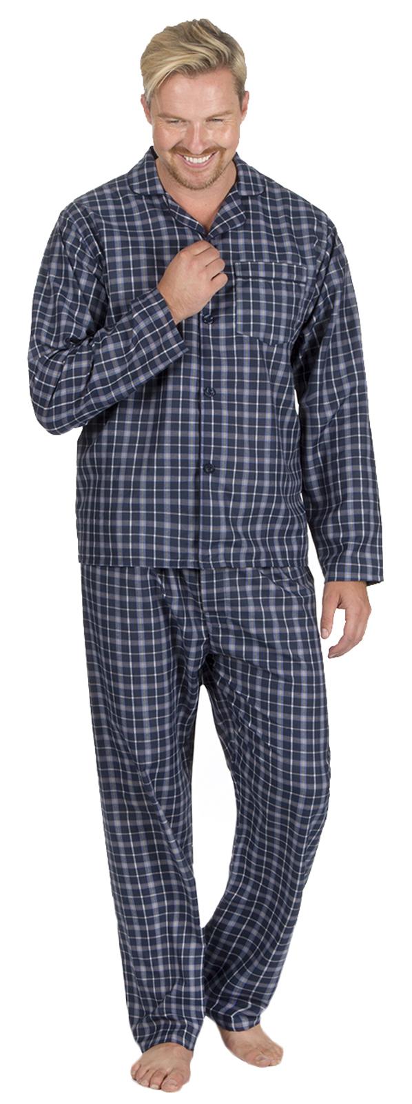 Mens Traditional Pyjamas 2 Piece Classic Set Hospital Top