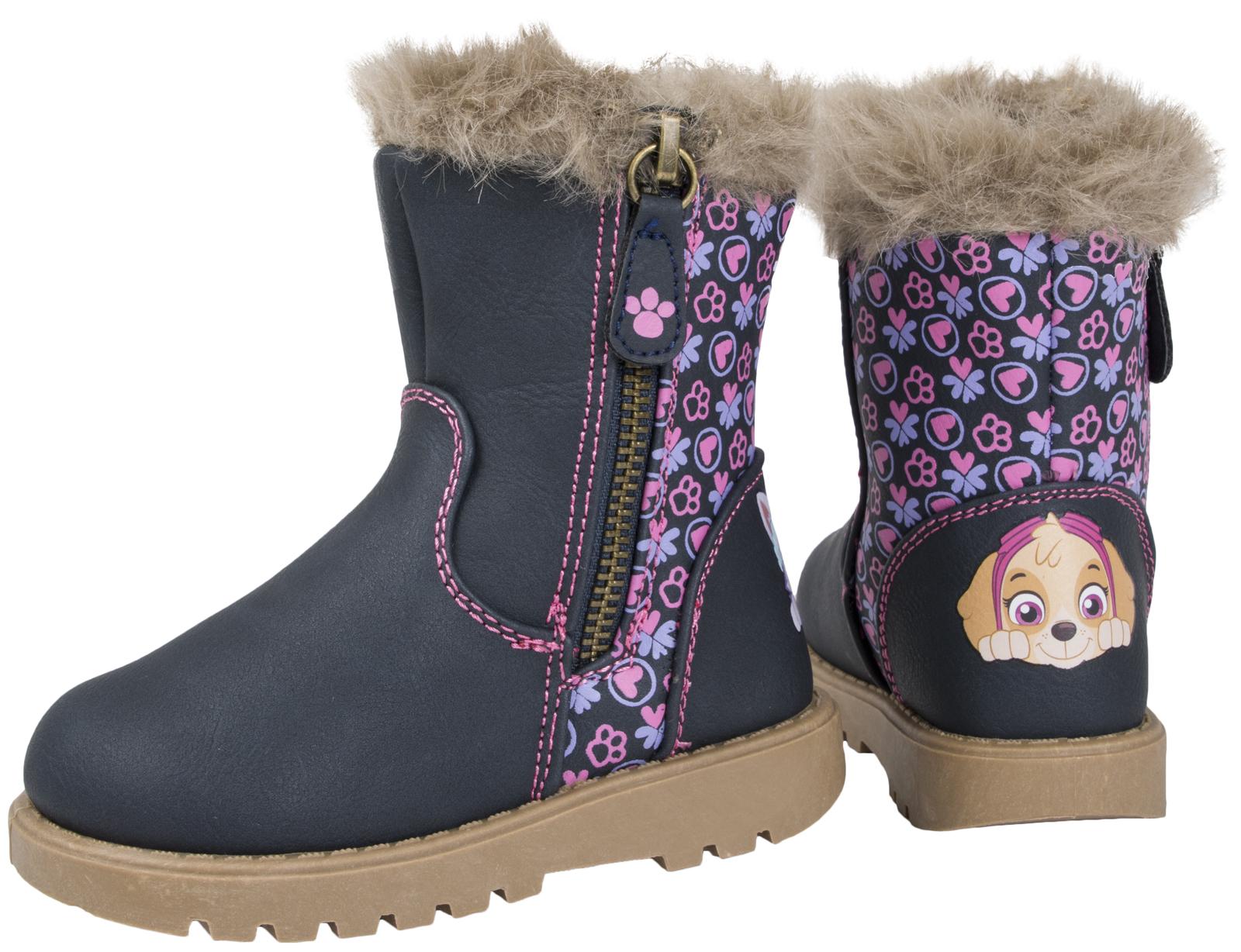 Girls Paw Patrol Boots Mid Calf Warm