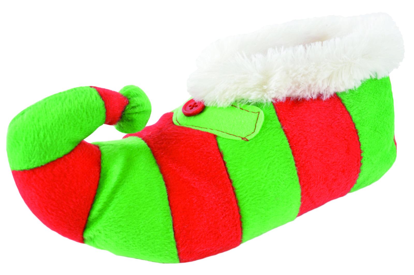 Novedad para mujer 3D Zapatillas De Peluche Reno Elfo Navidad regalo Navidad Botines Talla