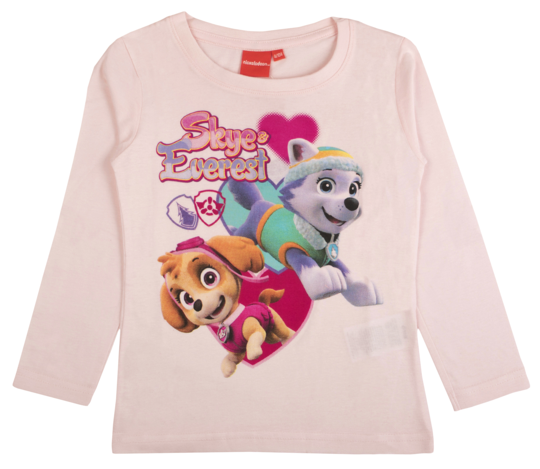 9e6a96d37 Official Paw Patrol Girls Boys Kids Long Sleeve Top Character Chase ...