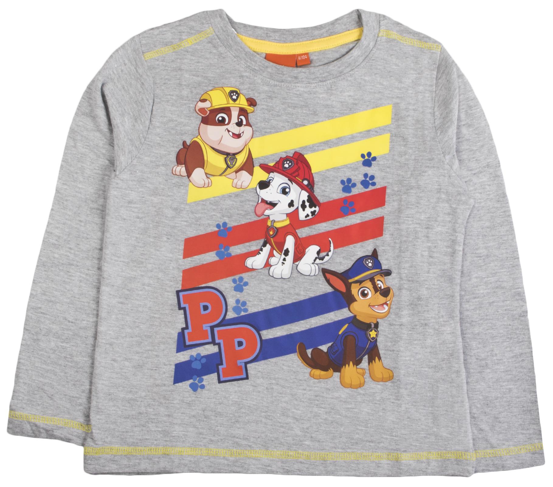 f501e1b7c750b Official Paw Patrol Girls Boys Kids Long Sleeve Top Character Chase ...