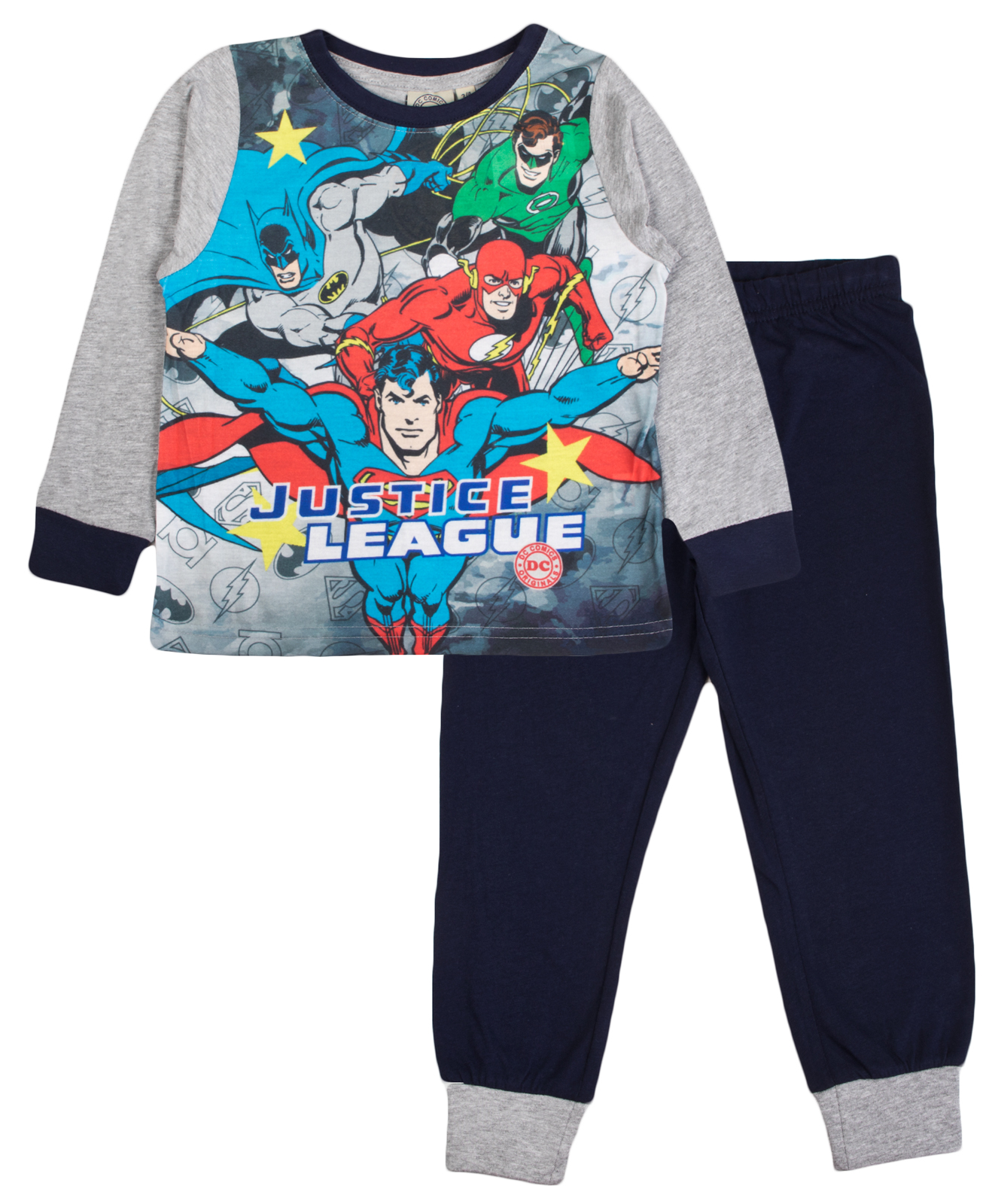fcdb3fddddaa Boys Justice League Pyjamas Kids Superman Flash Long Pjs Kids 2 ...