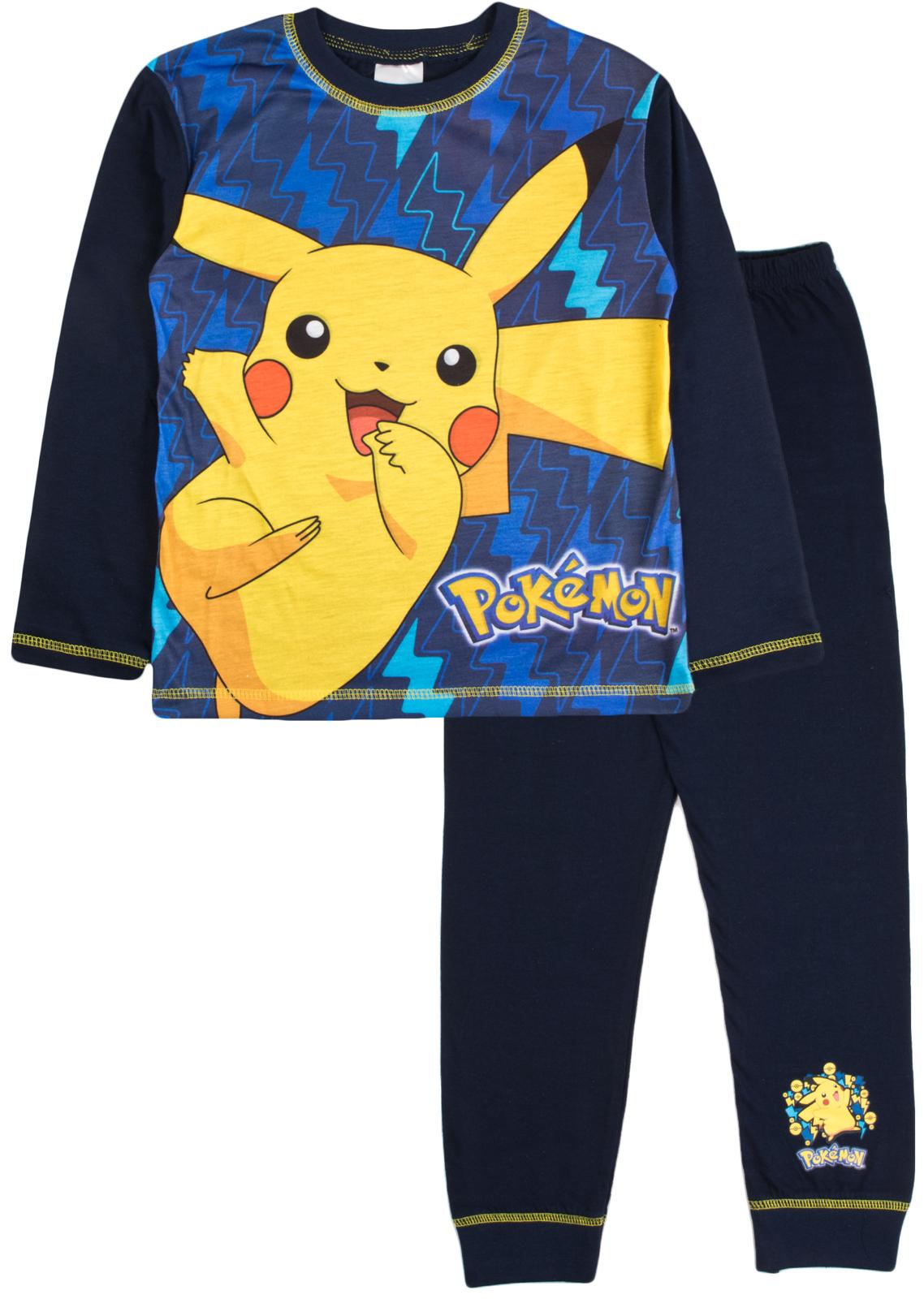 boys pokemon go pyjamas full length pikachu pjs 2 piece pyjama set kids size ebay. Black Bedroom Furniture Sets. Home Design Ideas