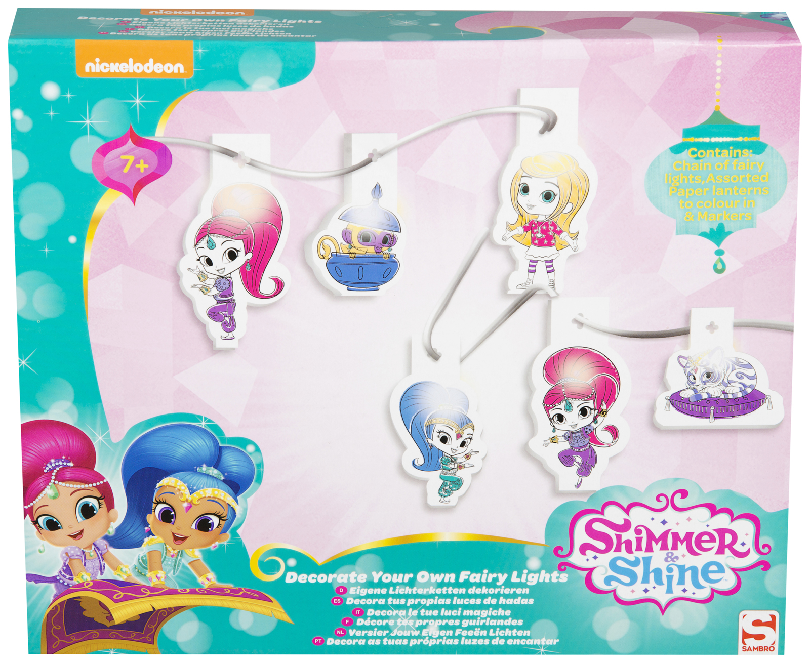 Shimmer And Shine Decorate Your Own Fairy Lights Girls Xmas Gift