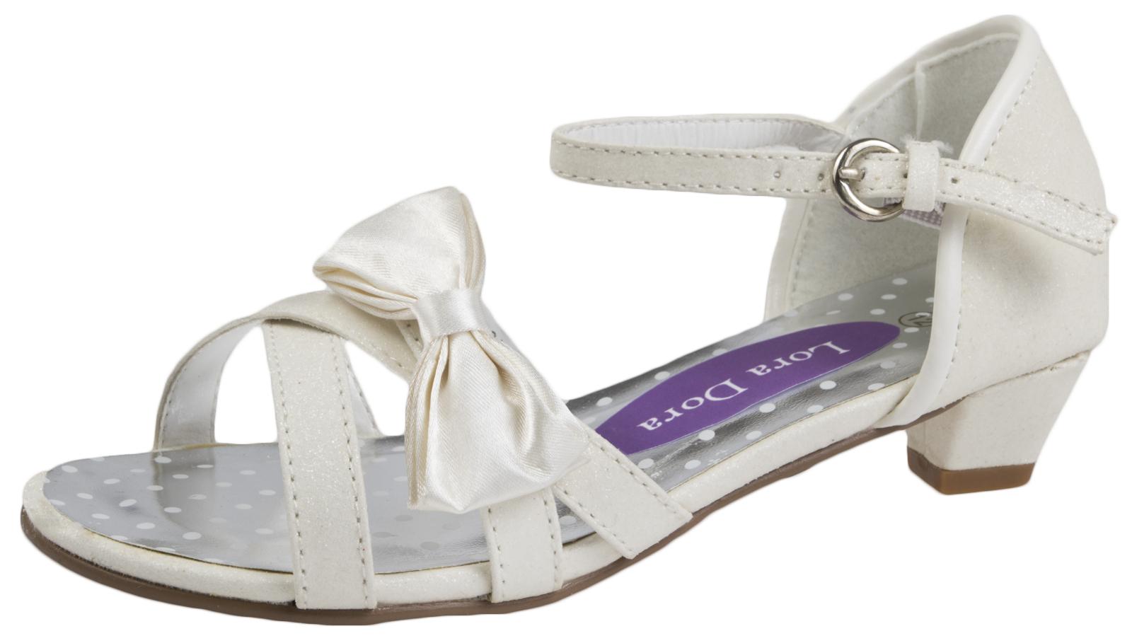 Kids High Heels Formal Wedding Shoes Open Toe Party