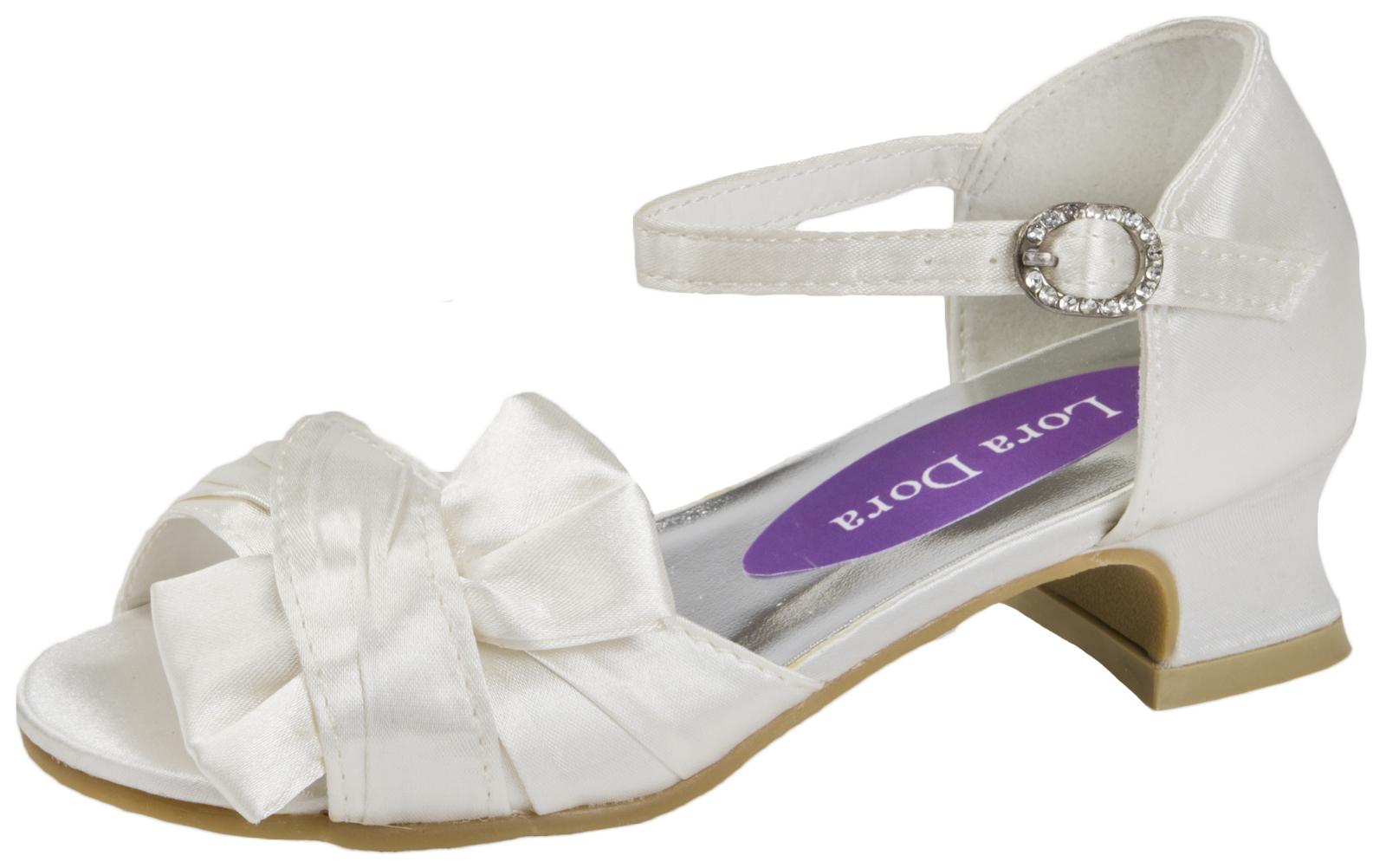 Kids High Heels Formal Wedding Shoes Open Toe Party ...