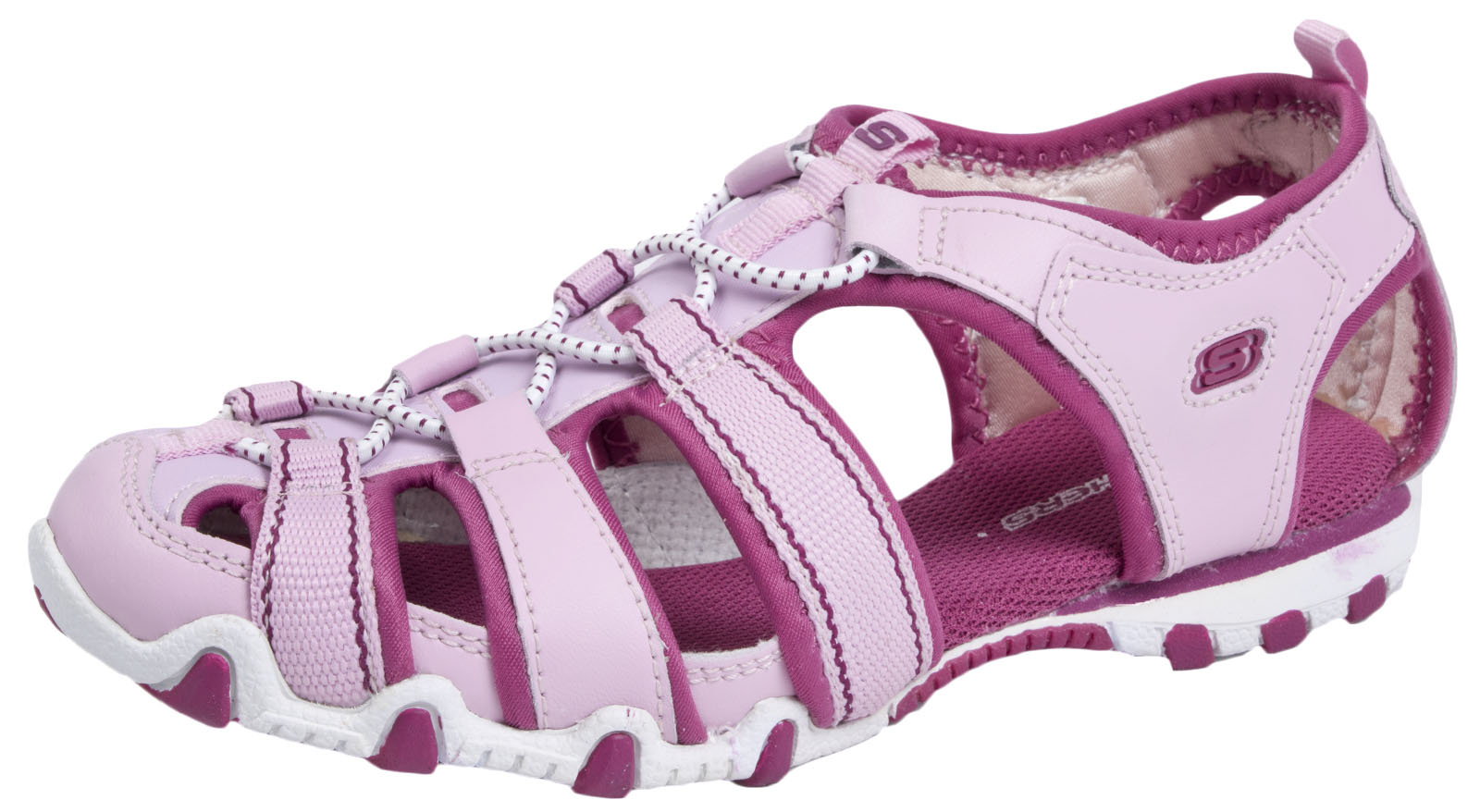 f2454a9ac6fb Skechers Girls Sports Sandals Elasticated Summer Holiday Beach Shoes Kids  Size