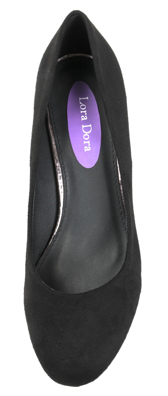 Ladies-Leather-Lined-Low-Block-Heels-Comfort-Work-Office-Court-Shoes-Ladies-Size miniatuur 11