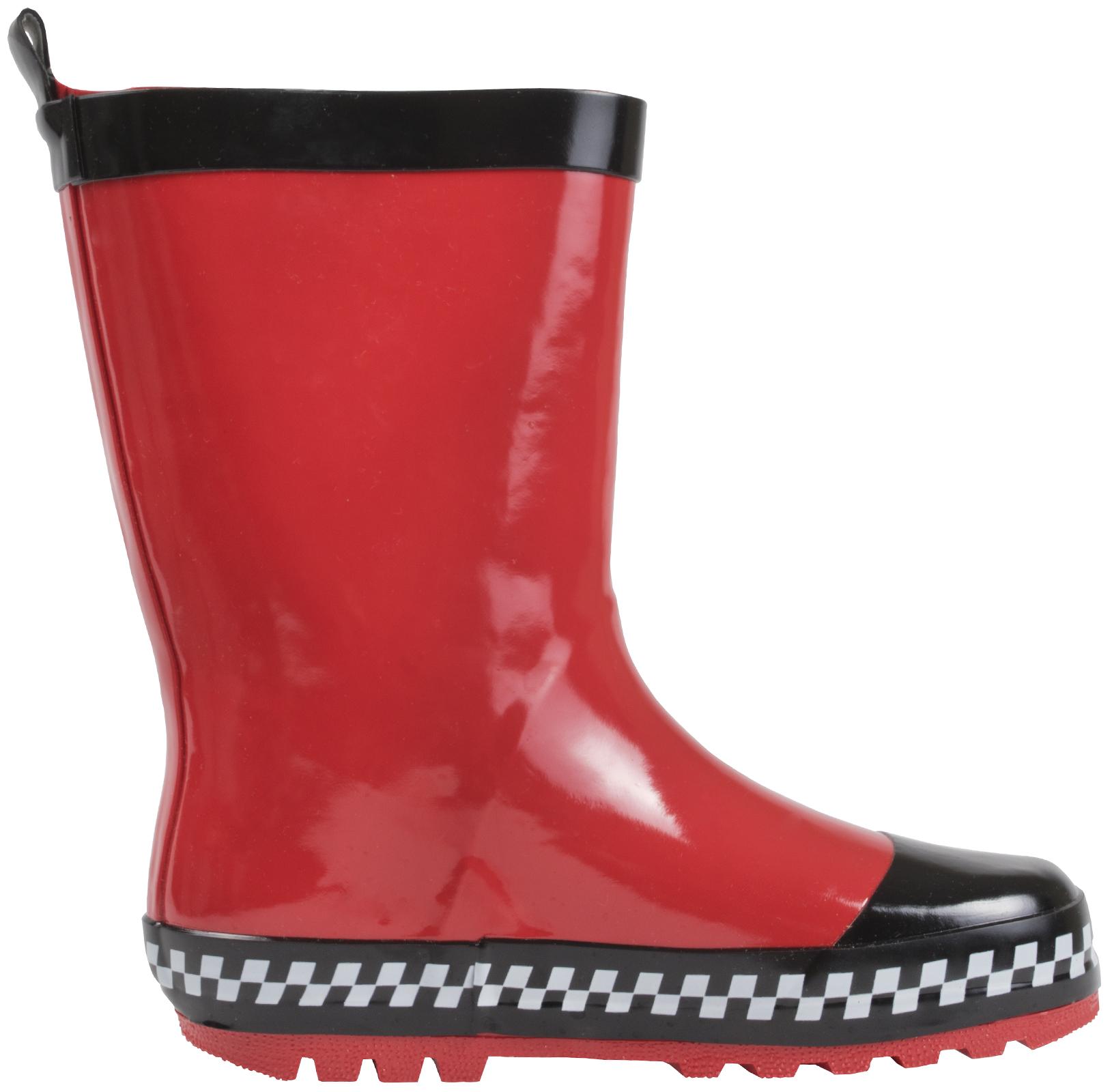 Disney Cars Lightning McQueen Rubber Wellington Snow Boots Rain Wellies Size