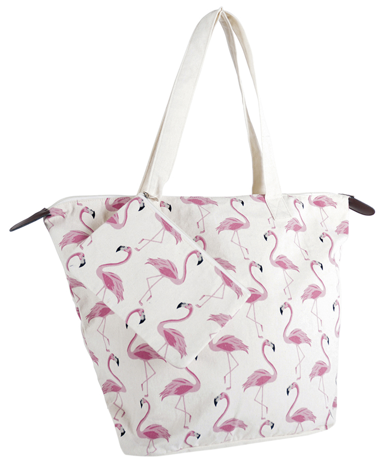 Womens Flamingo Beach Bag Large Summer Per Tote Handbag Travel Reusable