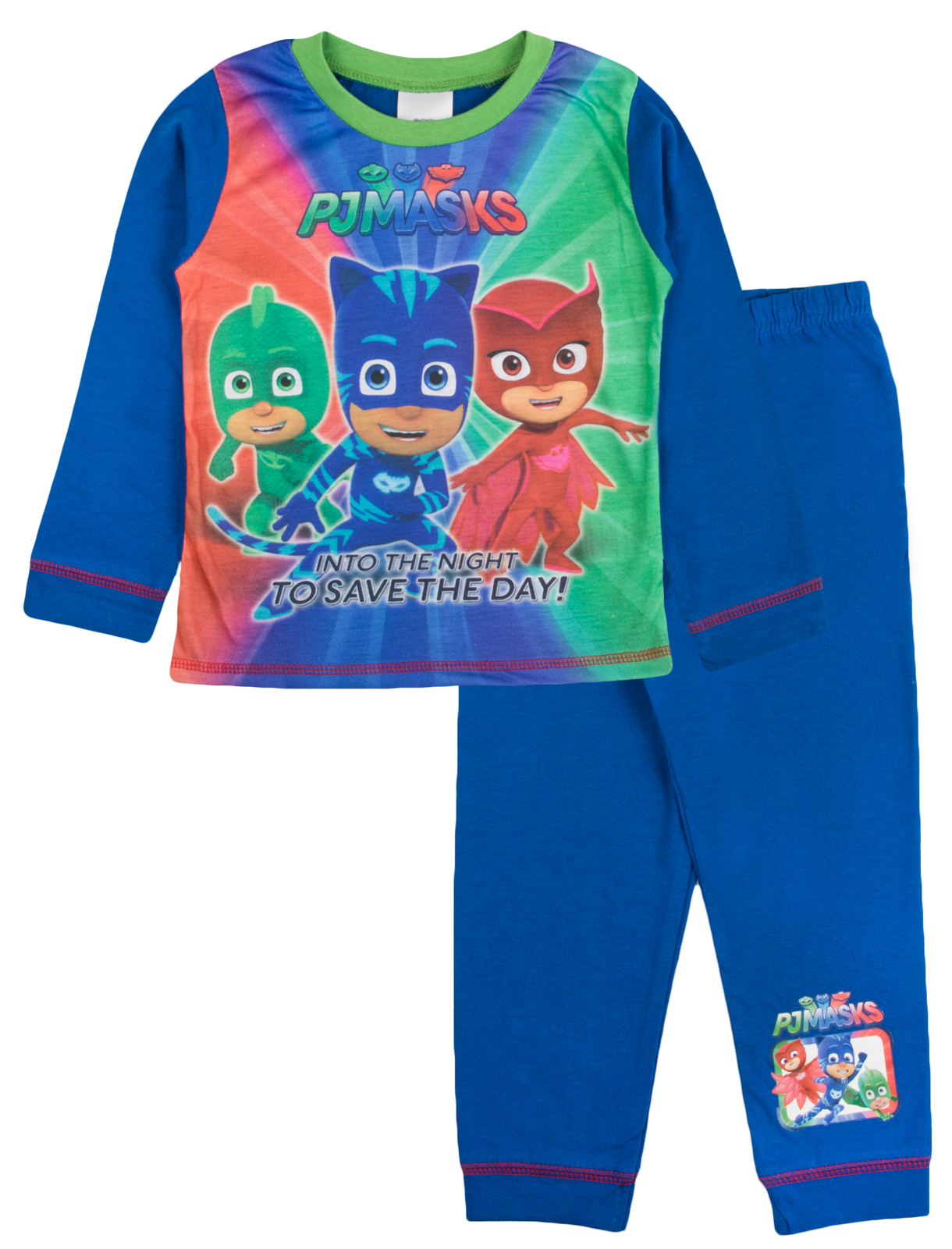 Attractive Boys Kids PJ Mask Pyjamas Into The Night