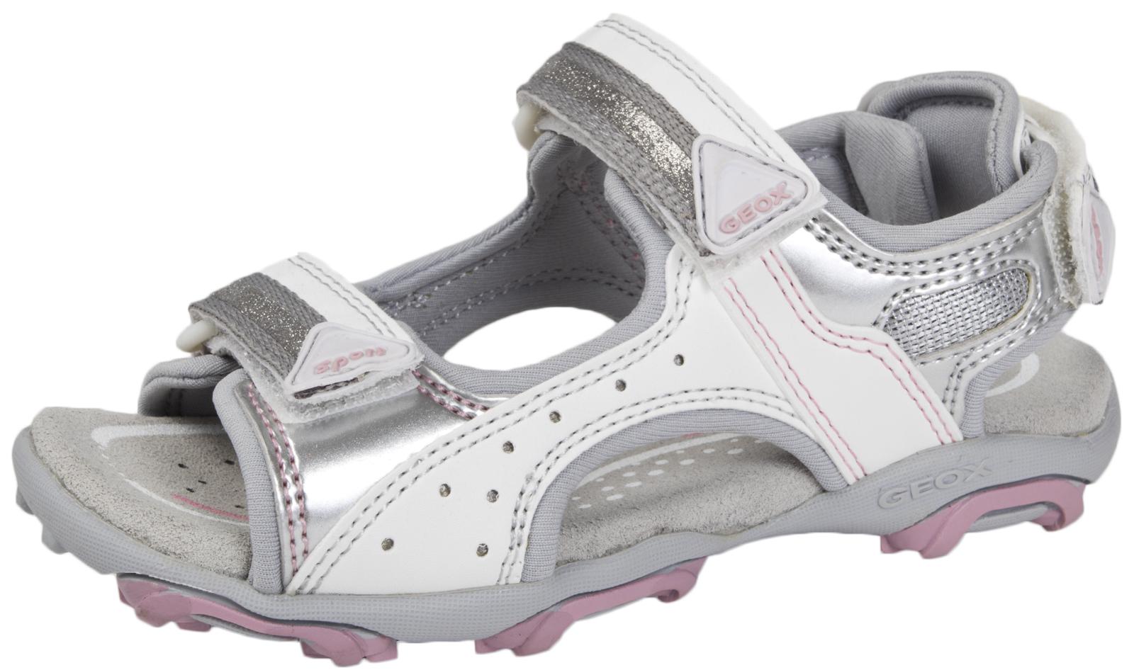 78c342fc5c48 Geox Girls Leather Sandals Summer Beach Walking Comfort Glitter Shoes  Holidays
