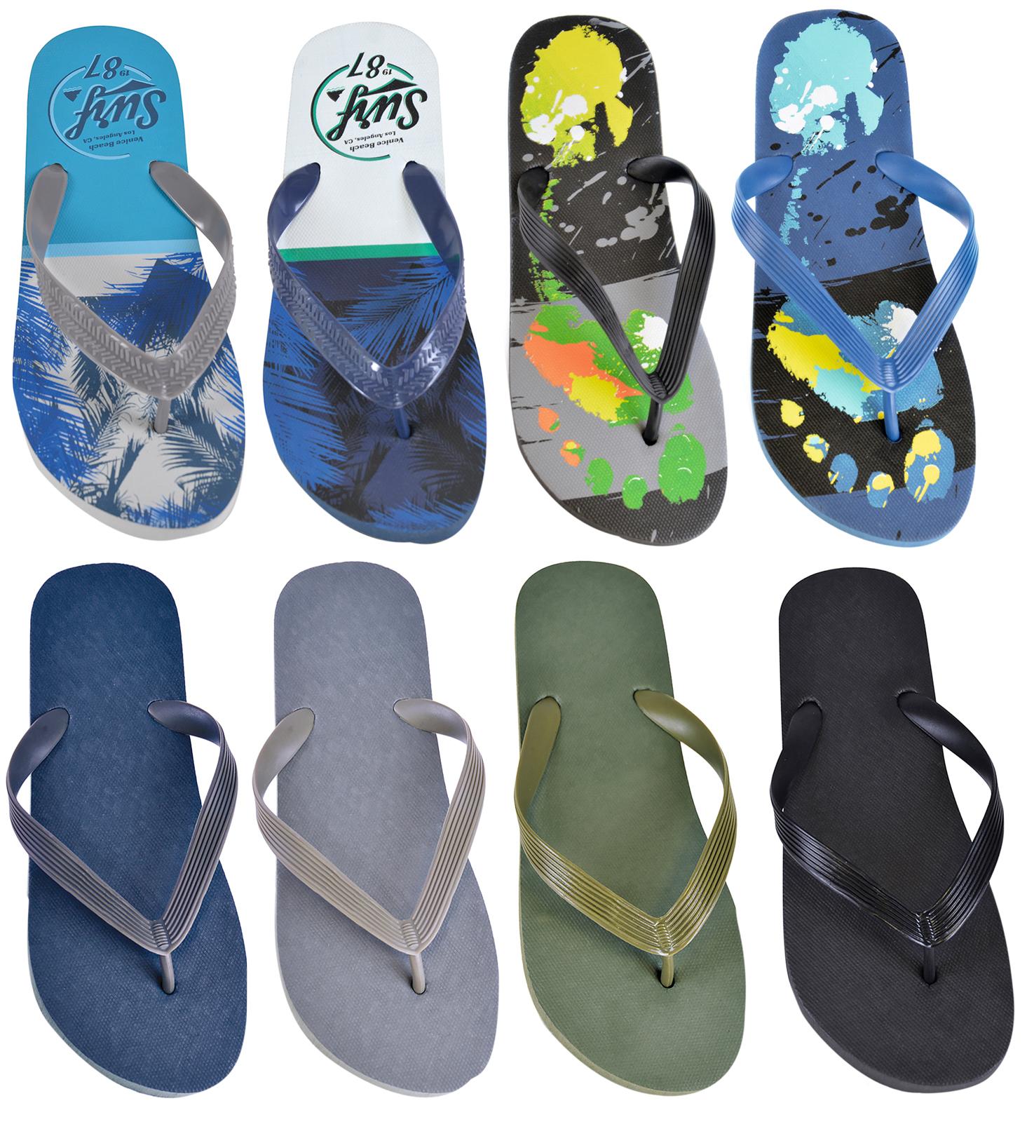 63e4ff6552d5 Details about Mens Flip Flops Summer Sandals Flat Beach Holiday Pool Shoes  Shower Toe Posts