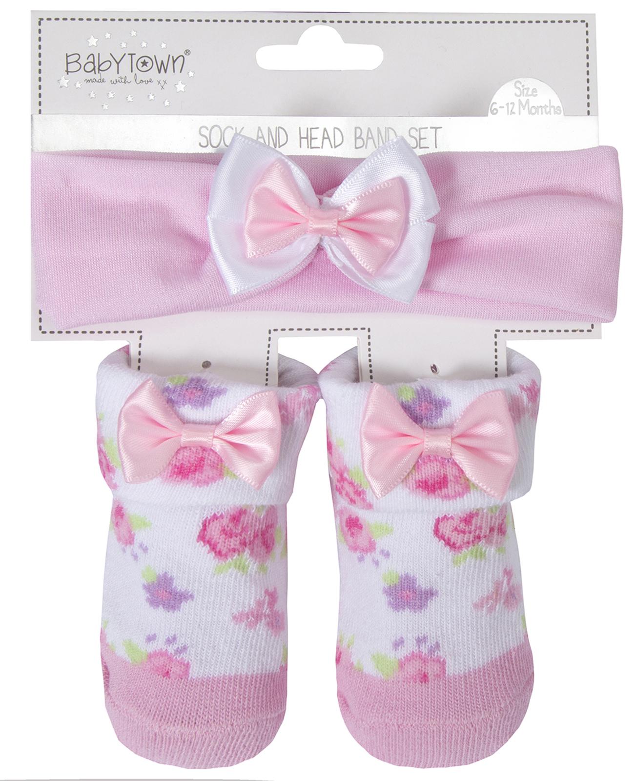 0-6 Months Baby Girl Headband And Socks Cutie Baby