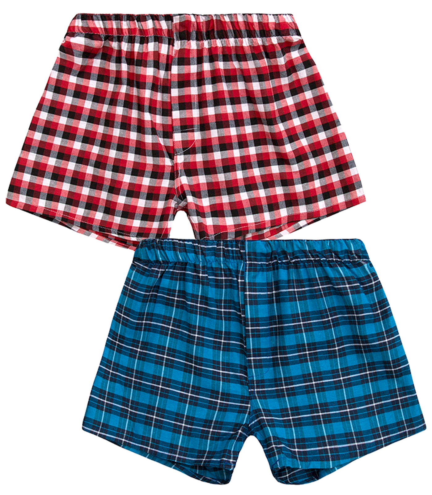 fb7b454aef Boys 2 Pack Woven Boxer Shorts Cotton Blend Underwear Trunks Kids ...