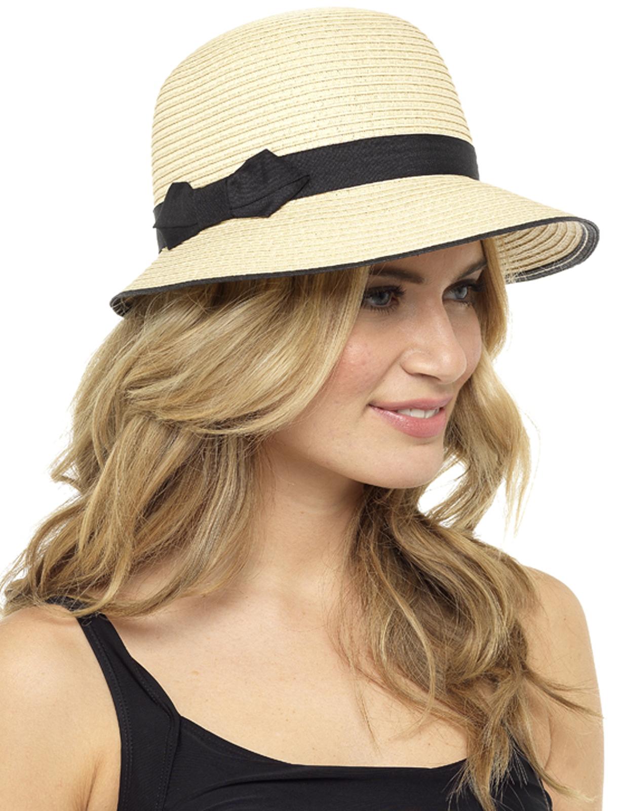 8ee8eb98 Ladies Narrow Brim Sun Hat Floppy Crushable Foldable Beach Summer ...