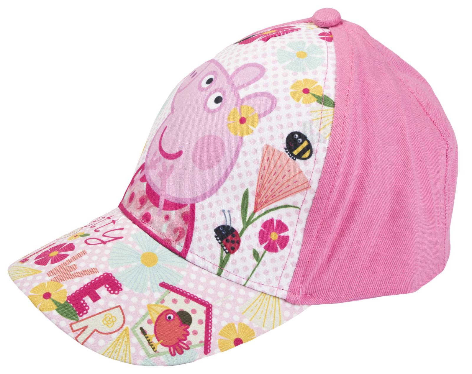 Girls Peppa Pig Baseball Cap Kids Character Adjustable Peaked Summer ... 109731362ff