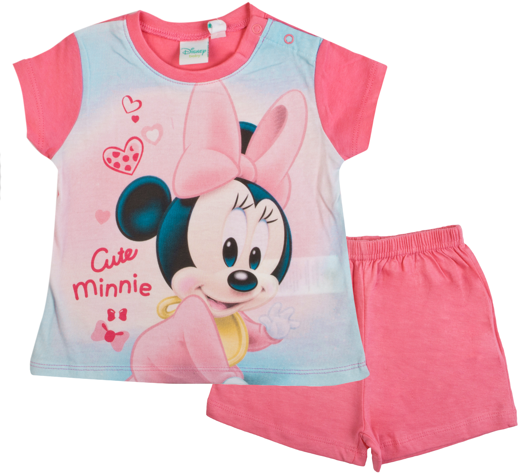 42d80cbcf9 Disney Minnie Mouse Baby Girls Short Pyjamas Infants Shortie Summer ...