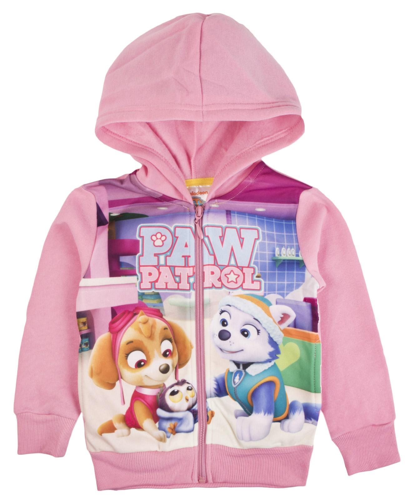 Paw-Patrol-filles-Zip-Hoody-filles-Skye-Everest-Nouveaute-Veste-Polaire-Pull-Taille