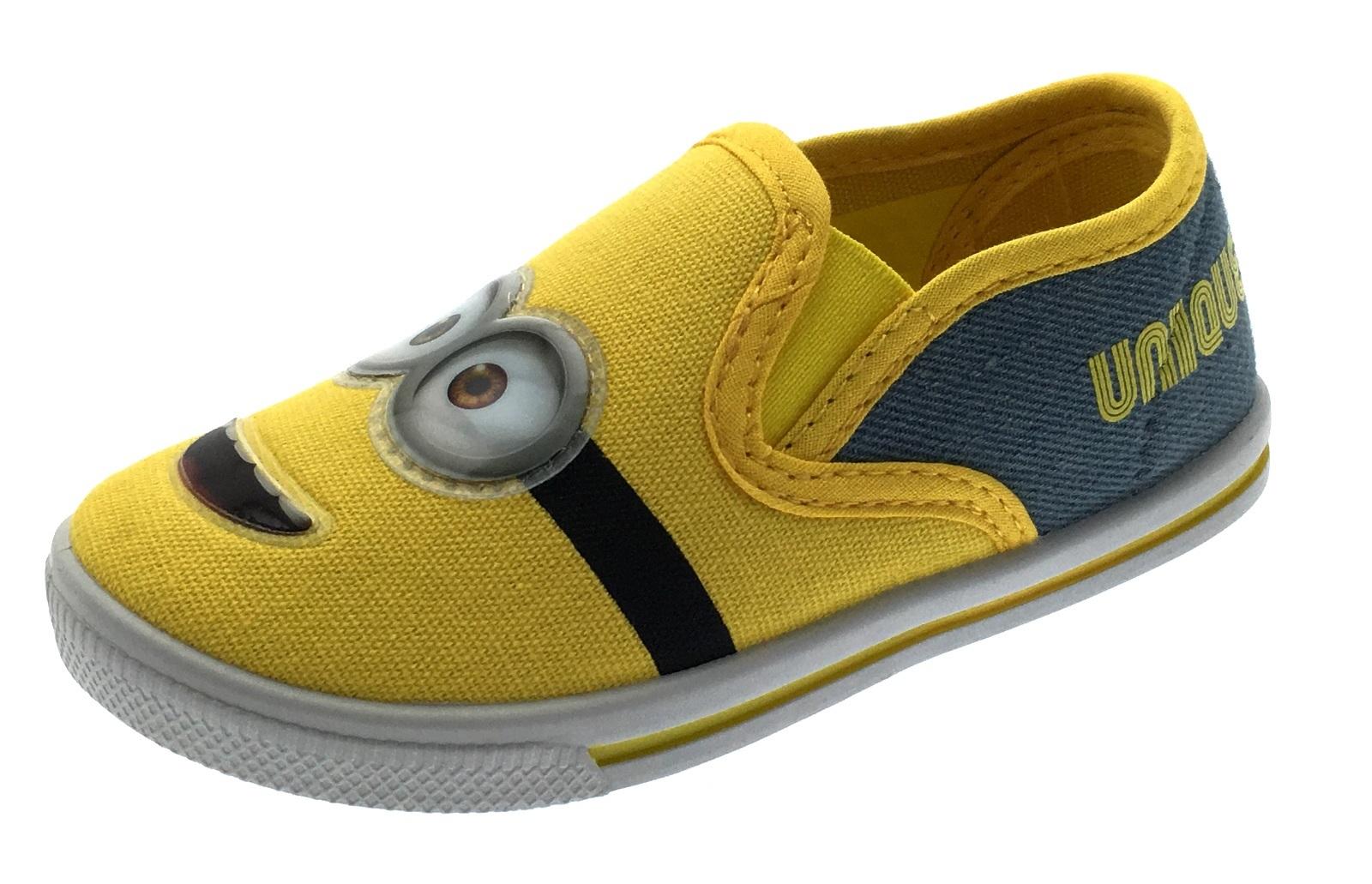Enfants-Toile-Pompes-Garcons-Filles-Personnage-Baskets-D-039-ete-Chaussures-Decontractees-Tennis