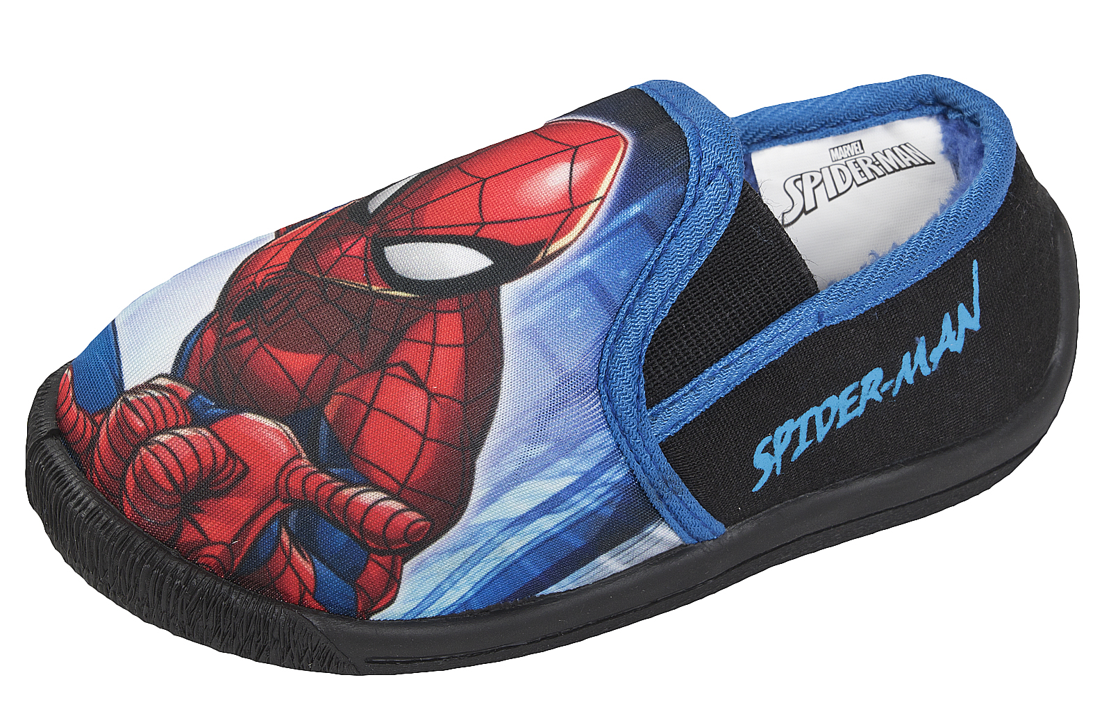 New Boys Kids Slip On Spiderman Novelty Fashion Slipper Assorted Colours
