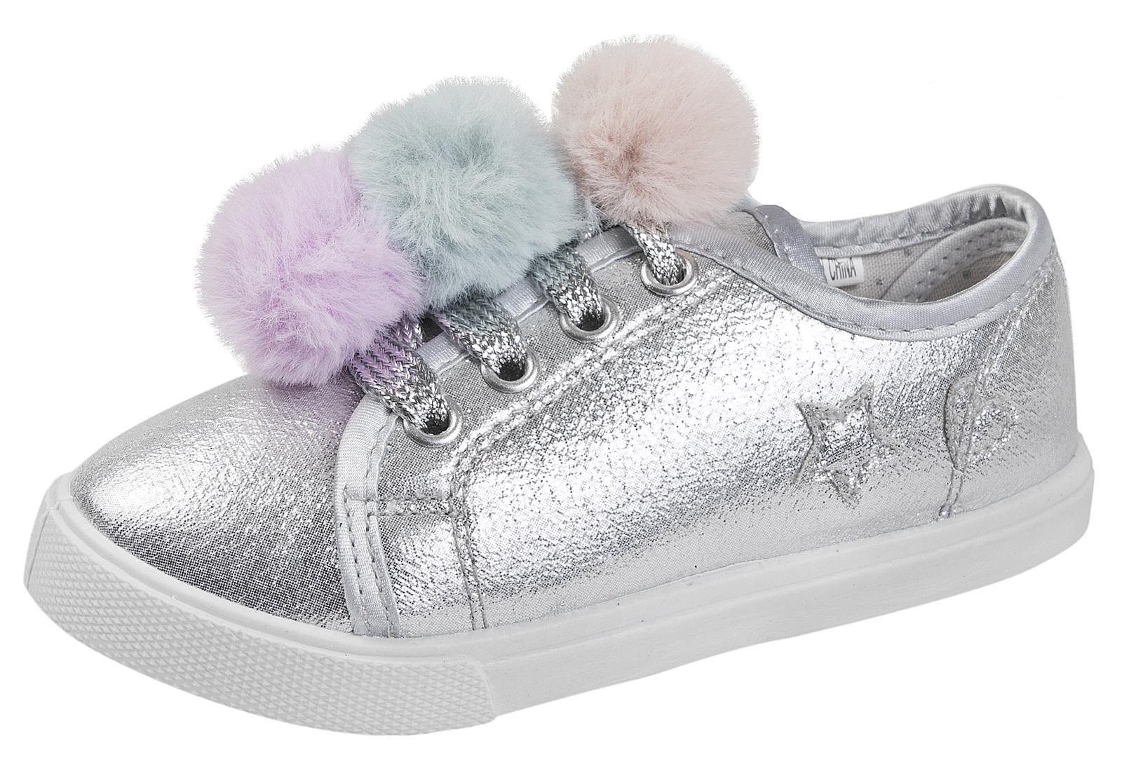 Buckle My Shoe Metallic Glitter Pom Pom