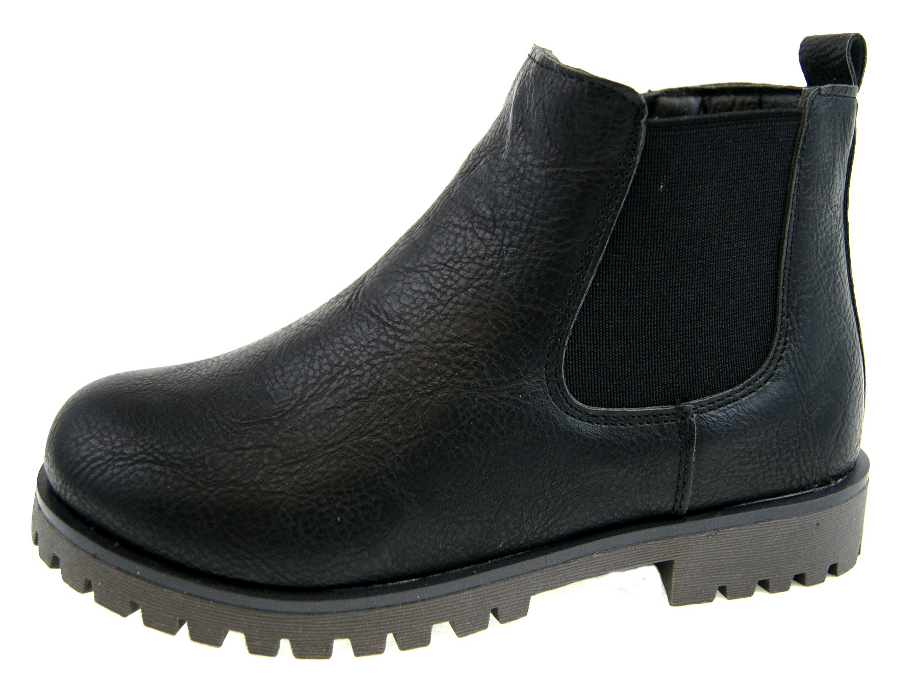 Boys Chelsea Ankle Boots Faux Leather