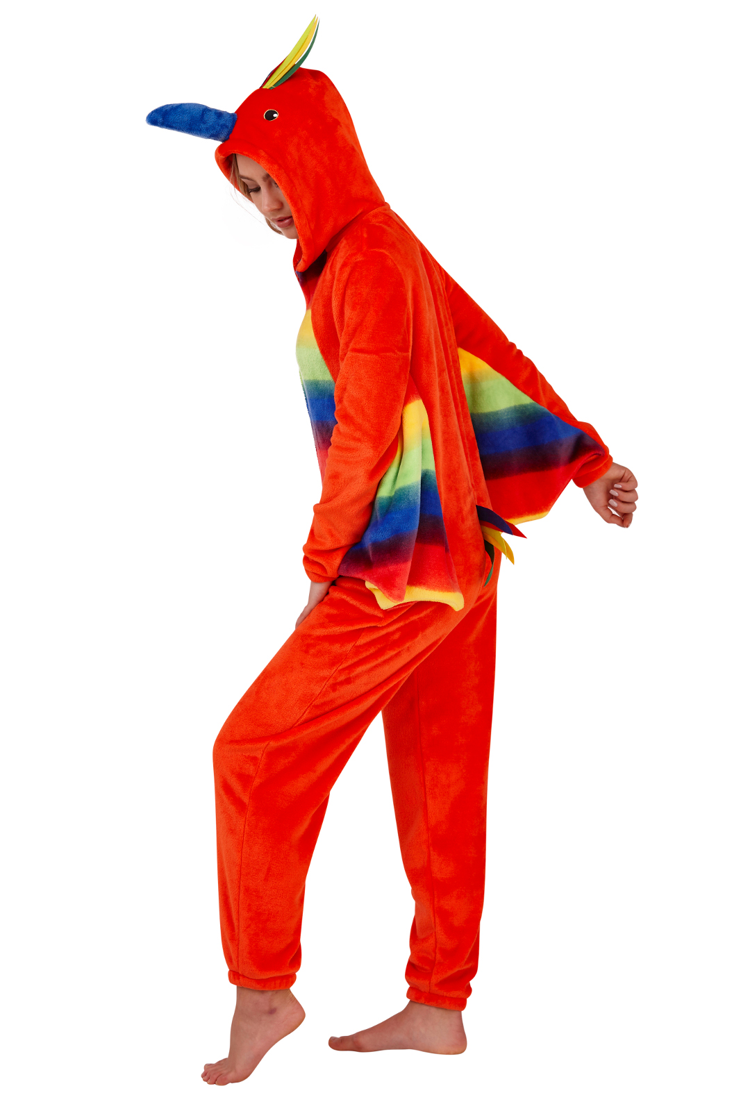bdff2c64d Womens Parrot All In One Pyjamas 3D Character Novelty Fleece Fancy ...