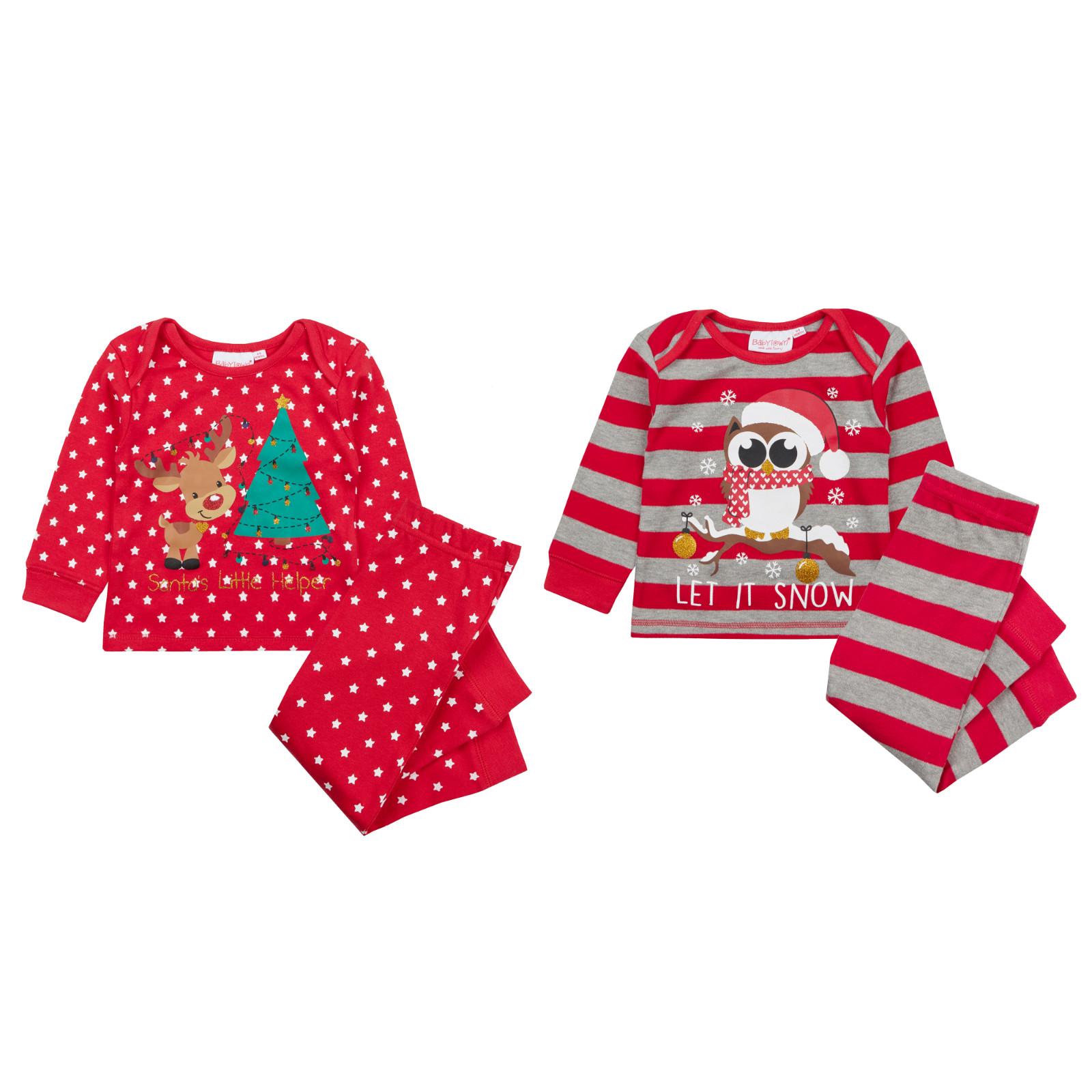 Baby Boys Girls Christmas Pyjamas Cute Novelty Xmas Pjs Babies ...