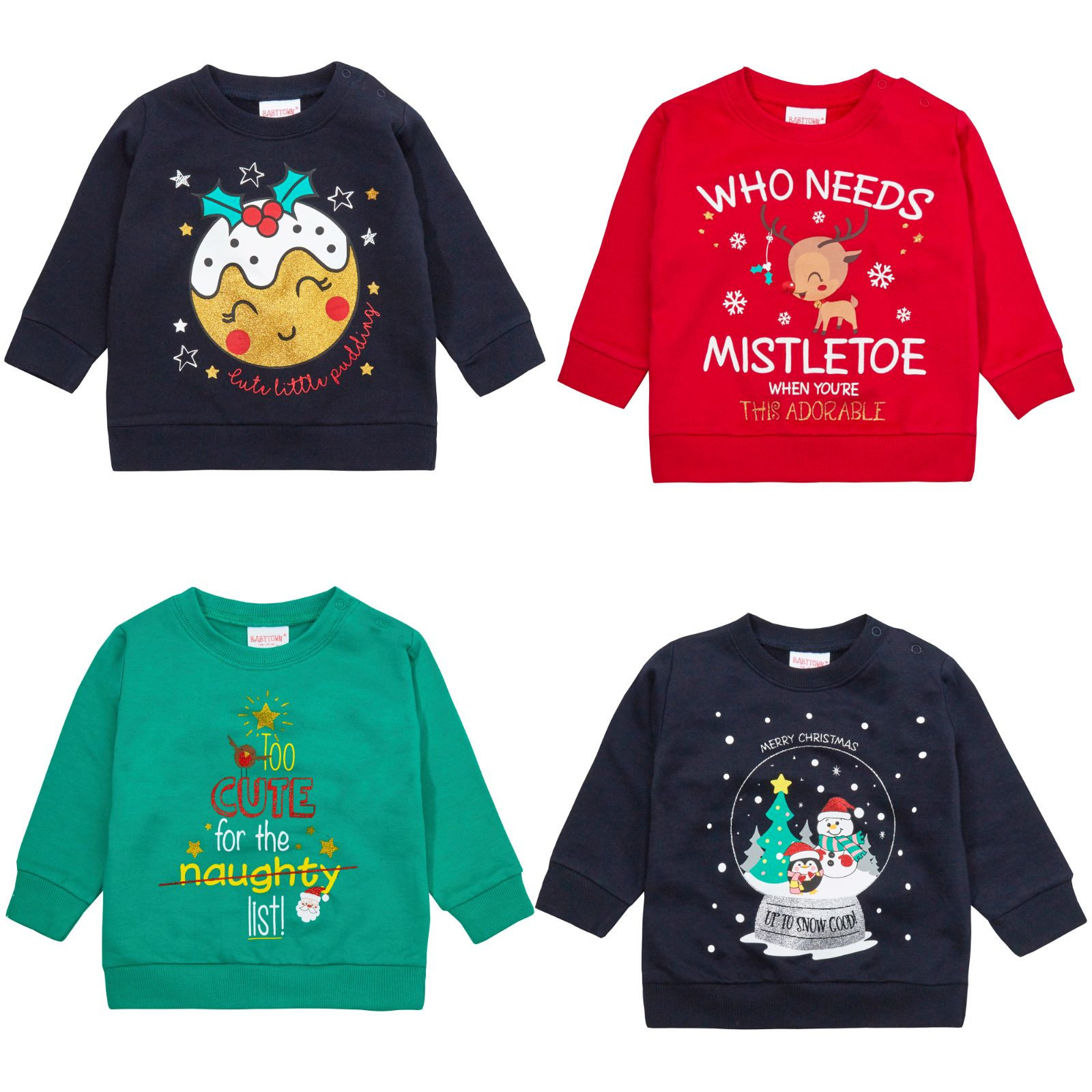 Christmas Tops.Details About Infants Christmas Jumpers Novelty Slogan Fun Sweaters Glitter Xmas Tops Size