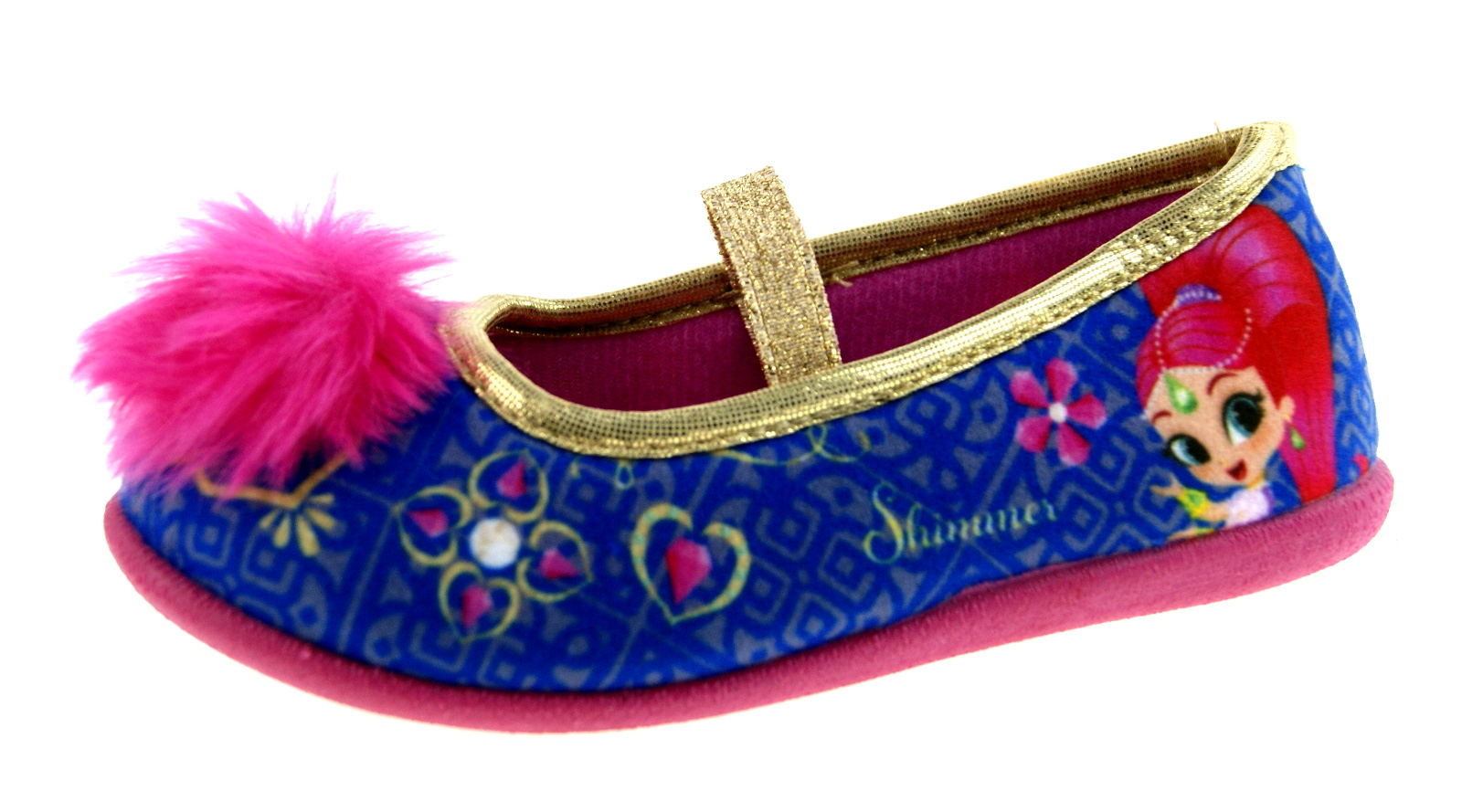8dbced229cfb Shimmer And Shine Girls Slippers Kids Novelty Genie Ballet Pump House Shoes  Size