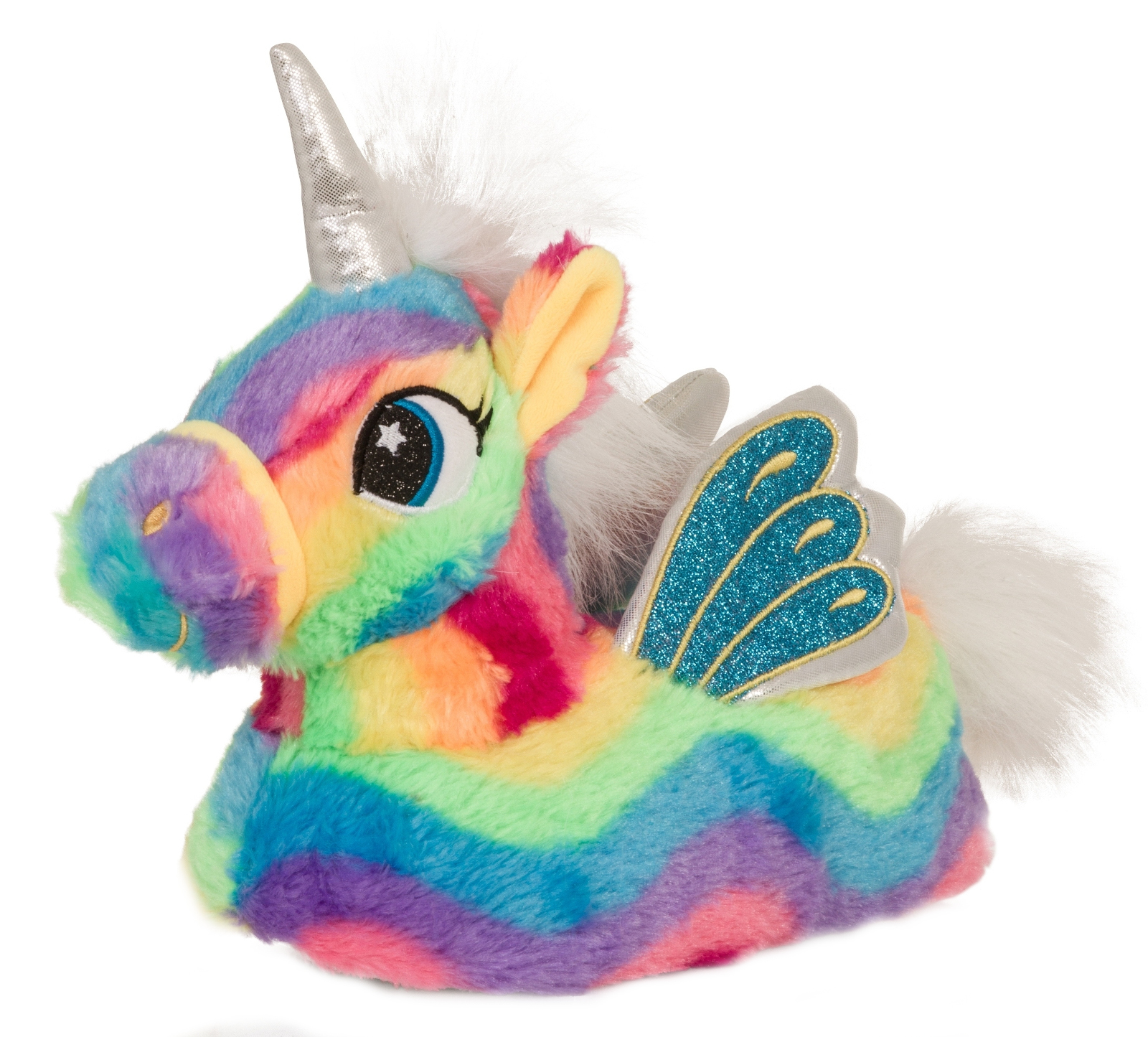 Womens Girls Novelty 3D Rainbow Unicorn Slippers Wings Mini Me Ladies Kids  Size 2b86d6b22