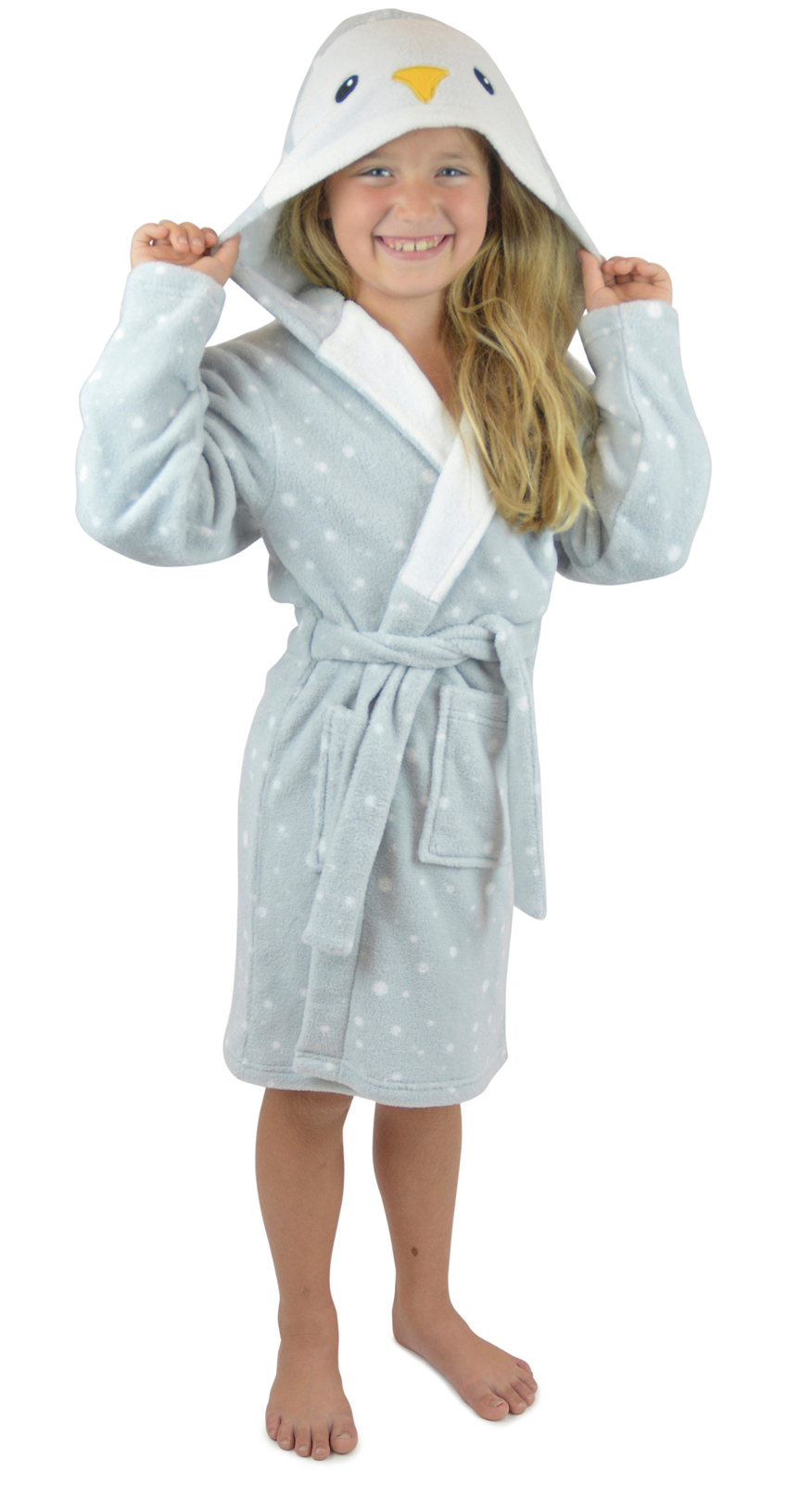 1a7735c3c5 Girls Cute Dressing Gown Soft Fleece Bath Robe Housecoat Xmas Gift Kids Size